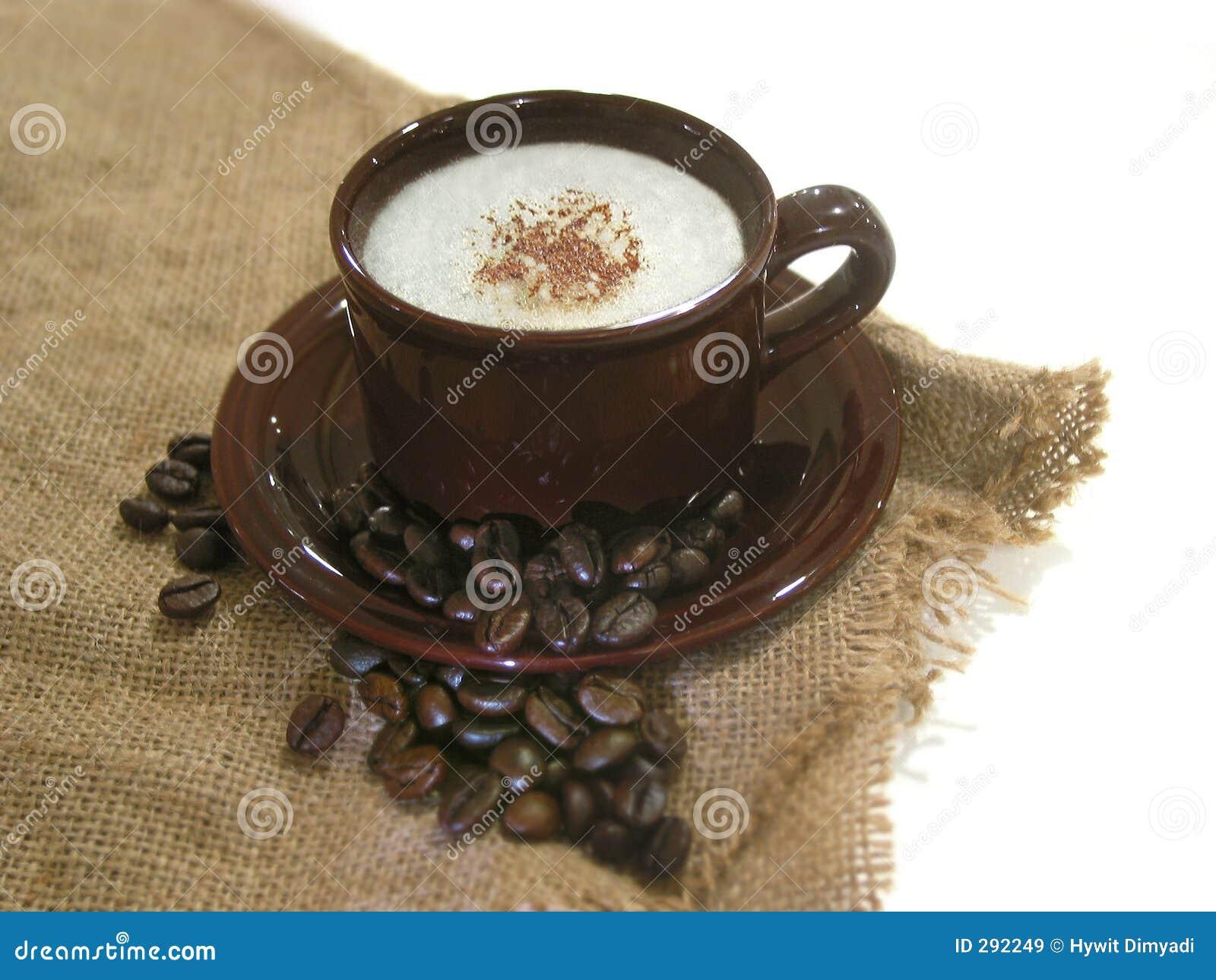 Koffie - Capuccino met bonen