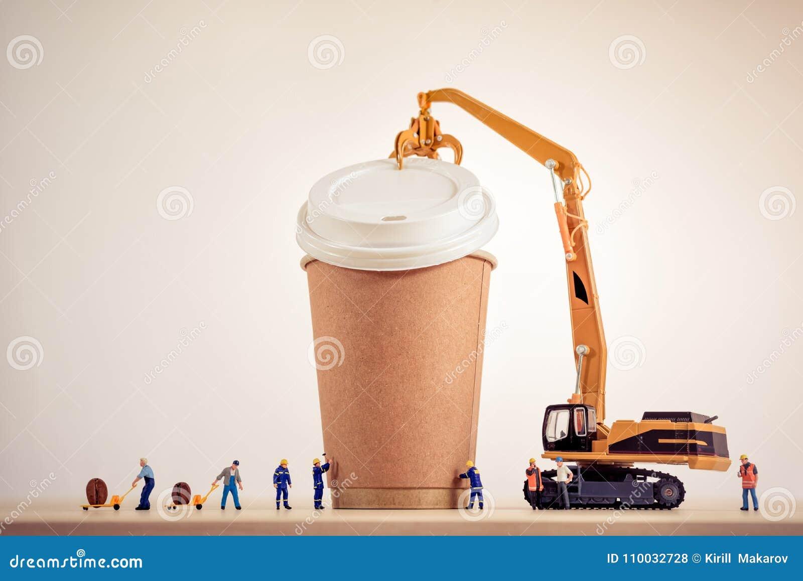 Koffie die concept maken Grote details!