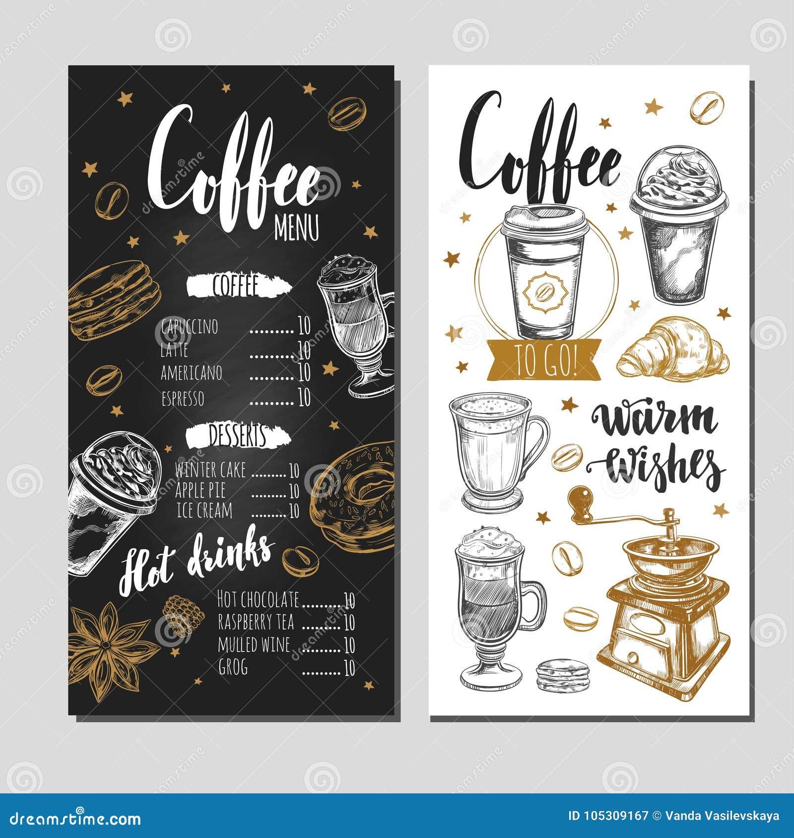 Koffie en Bakkerijrestaurantmenu 5