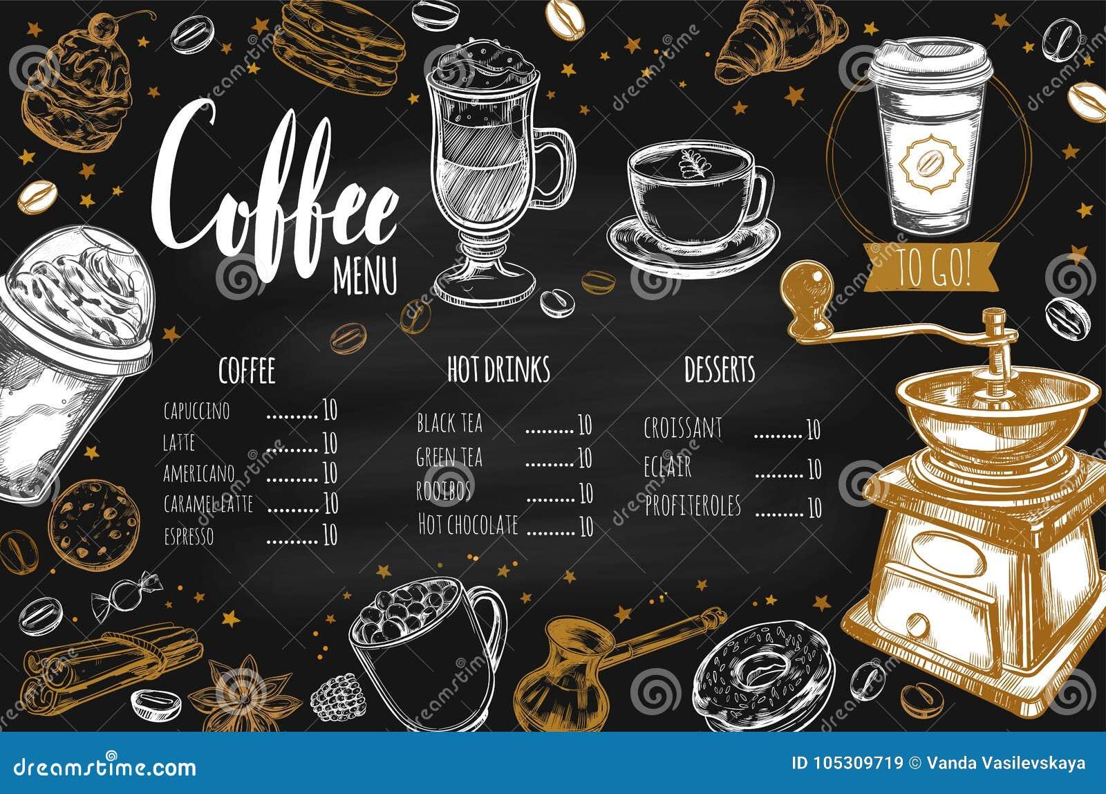 Koffie en Bakkerijrestaurantmenu 2