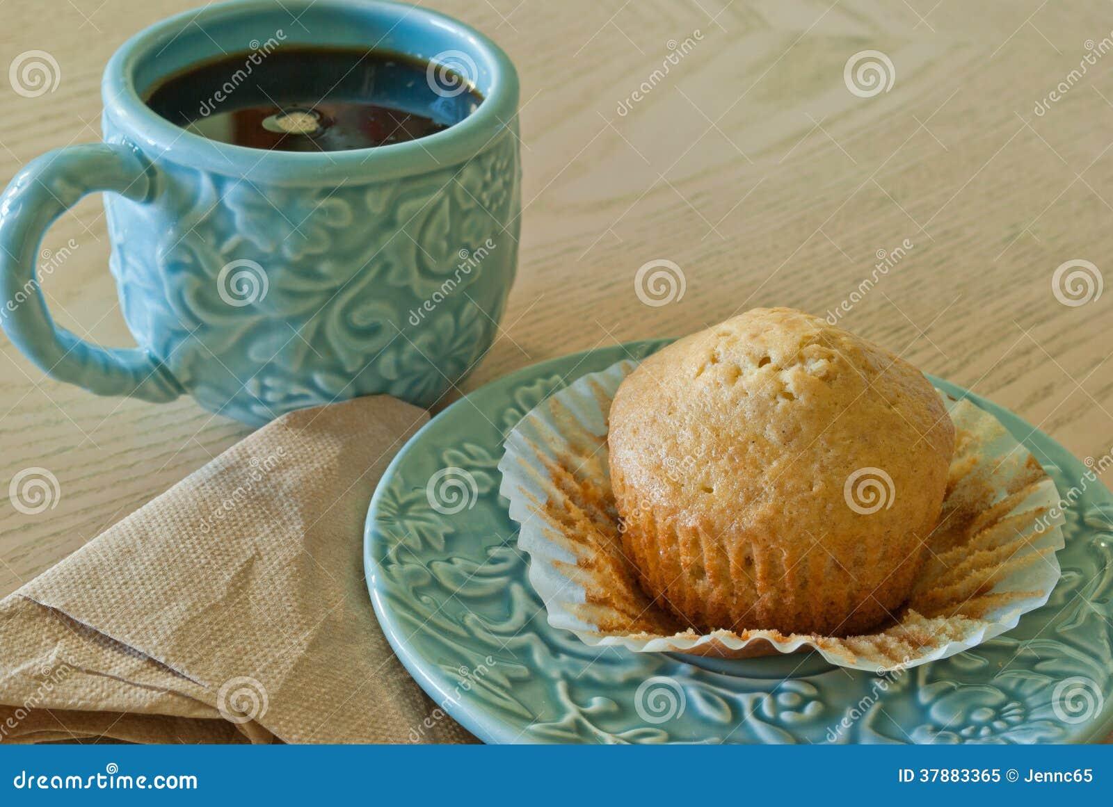 Koffie en eigengemaakte muffin