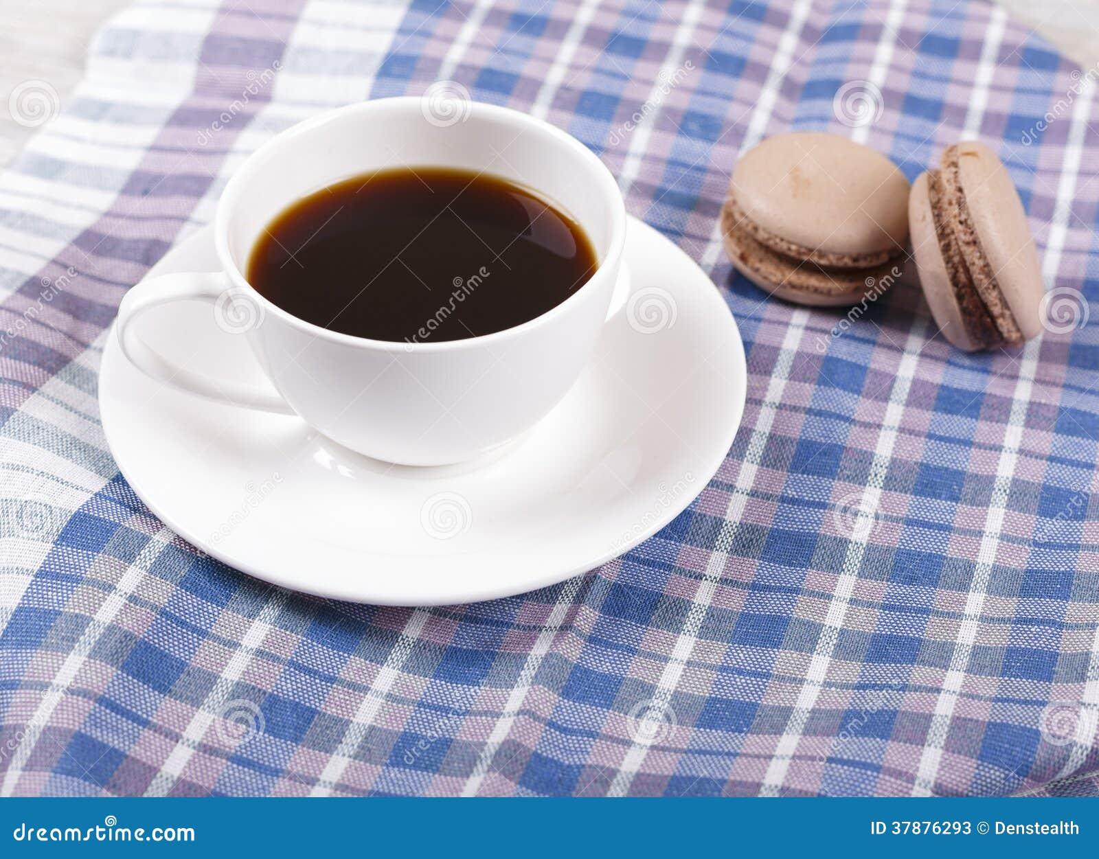 Koffie en makarons