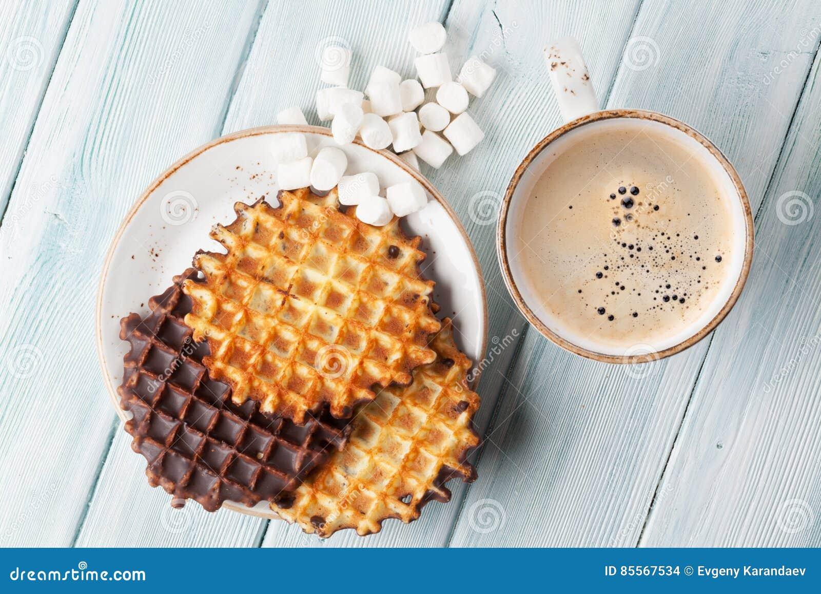 Koffie en wafels