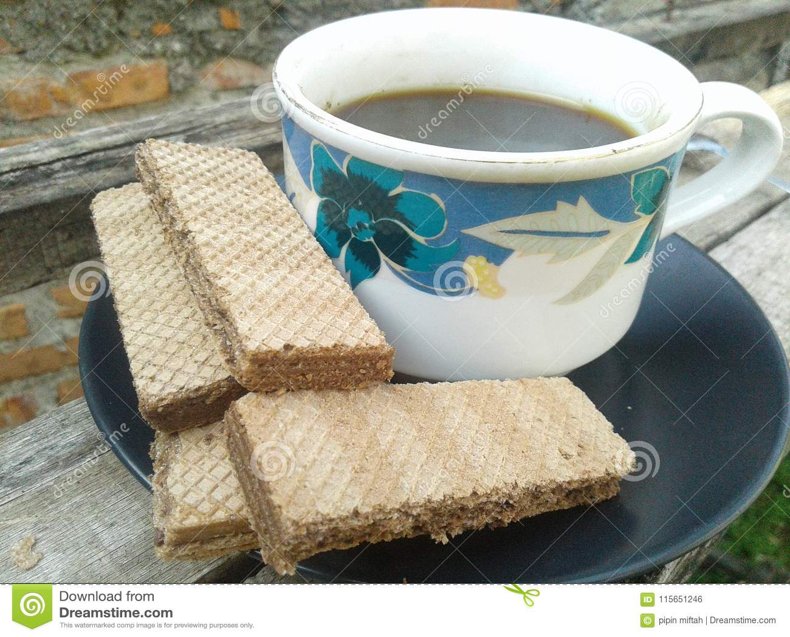 Koffie en wafeltje