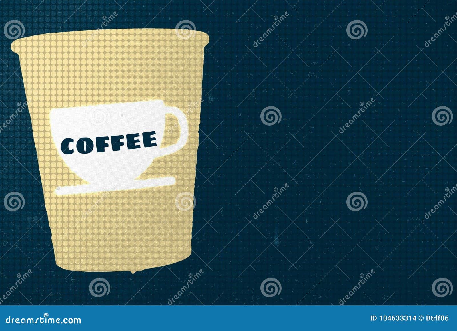 Download Koffieaffiche stock illustratie. Illustratie bestaande uit latte - 104633314