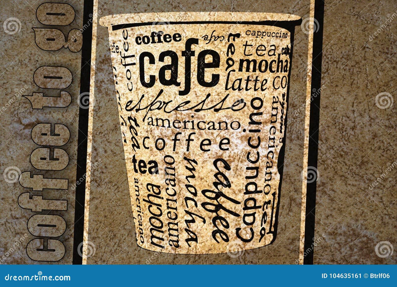 Download Koffieaffiche stock illustratie. Illustratie bestaande uit kalligrafie - 104635161