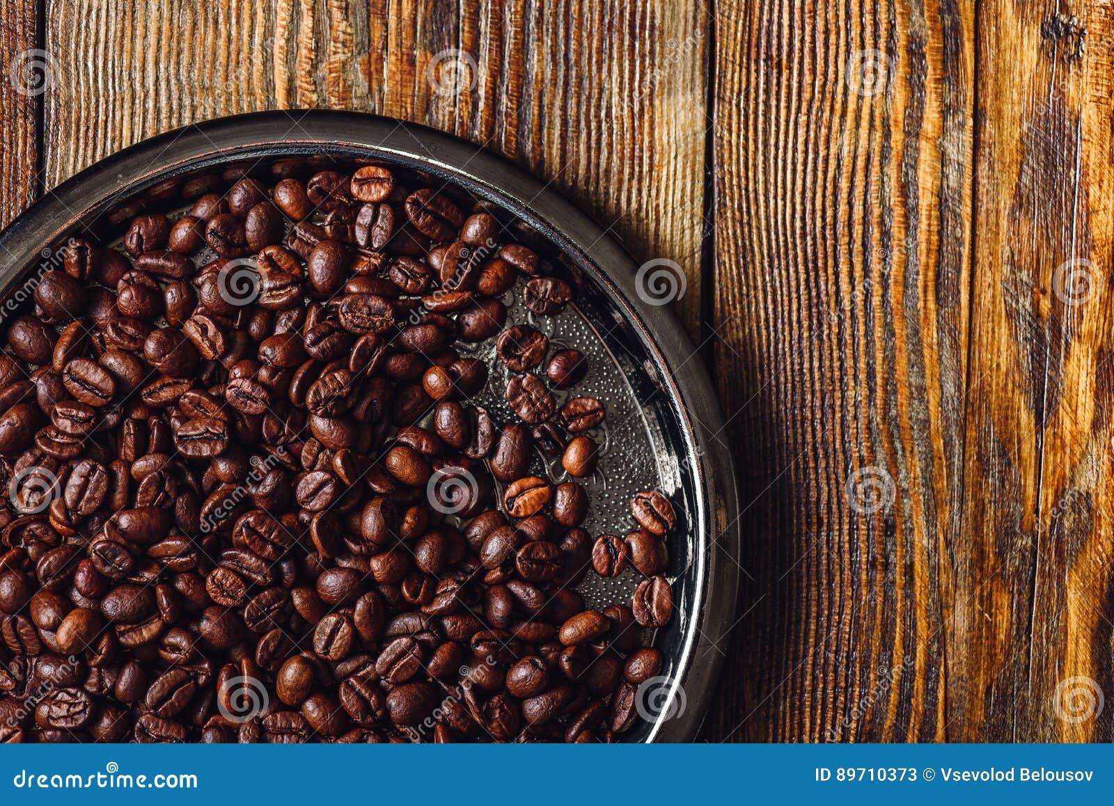 Koffiebonen op plaat