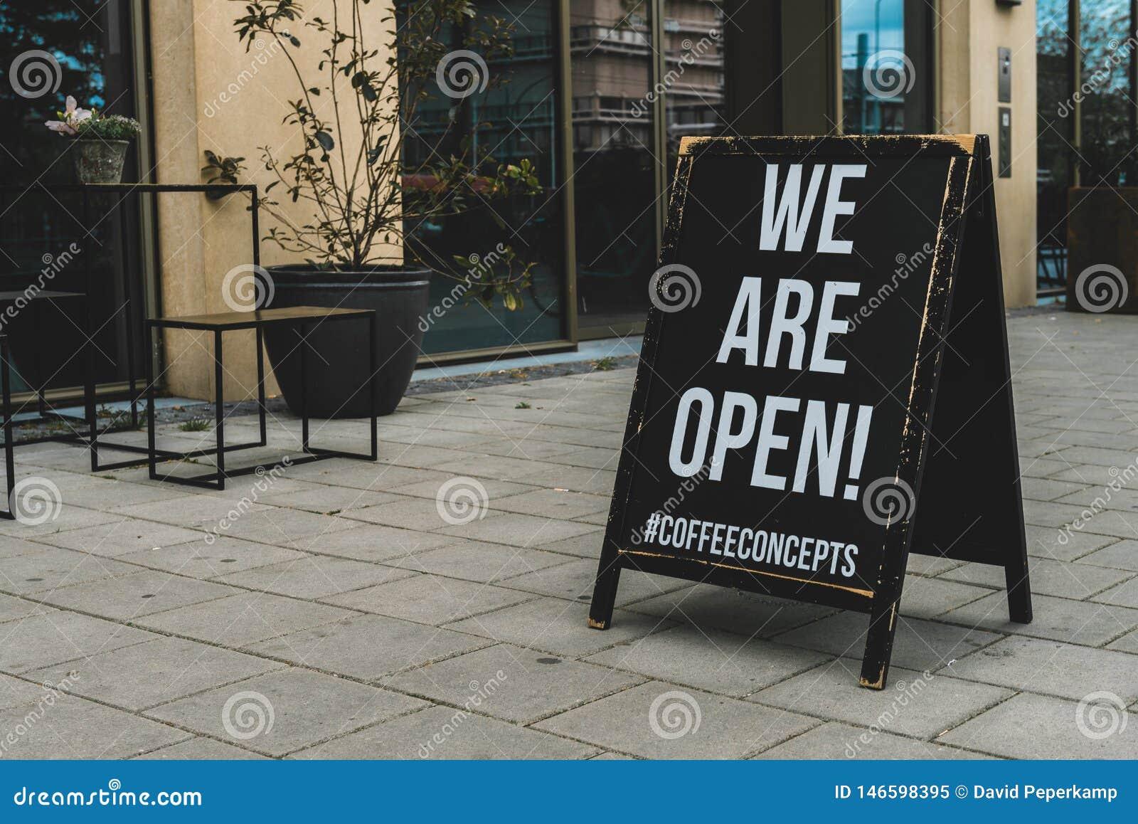 Koffieconcepten, koffiebar, zijn wij open stoepraad, Parnassusweg Amsterdam