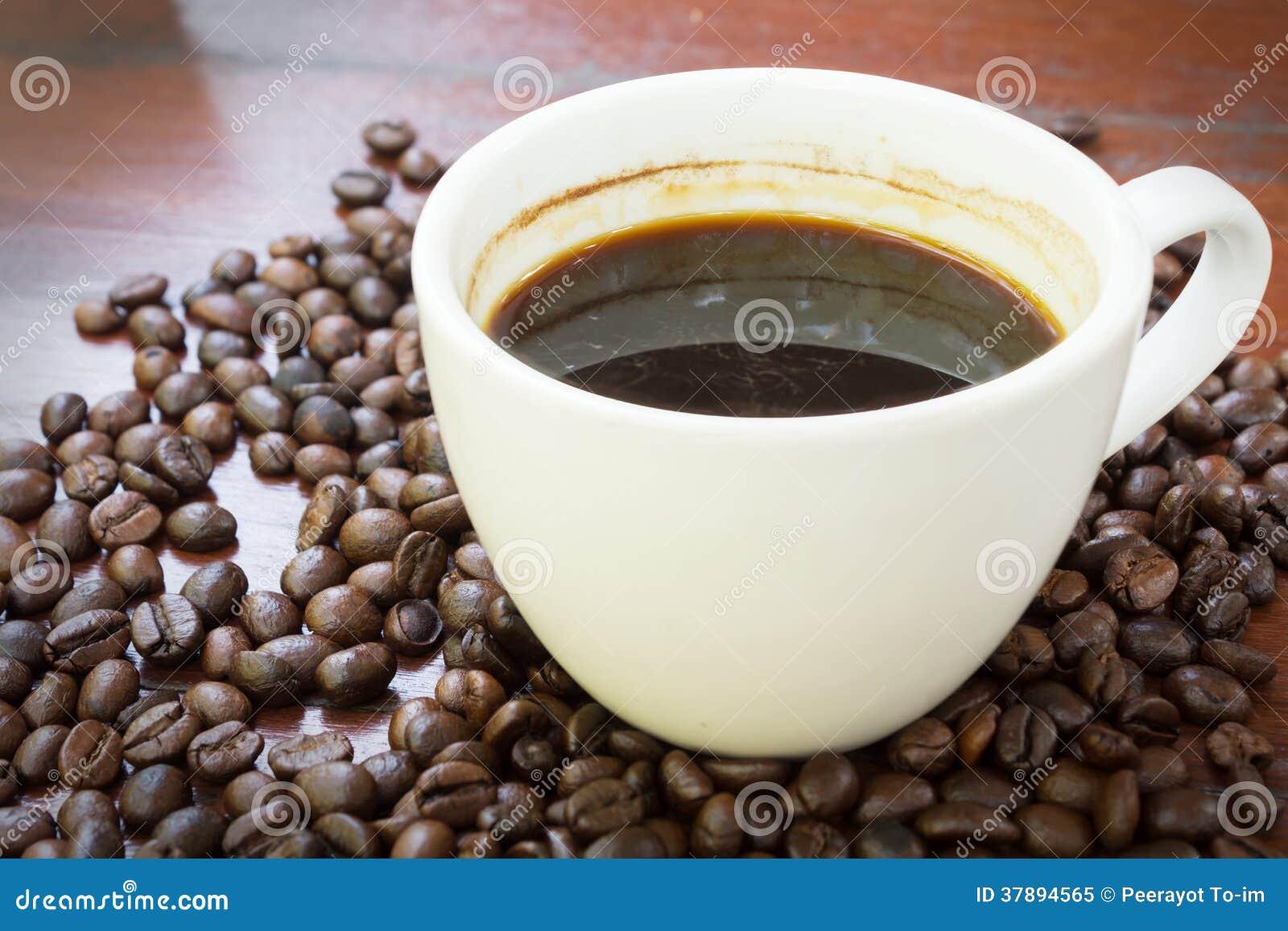 Koffiekop en bonen.