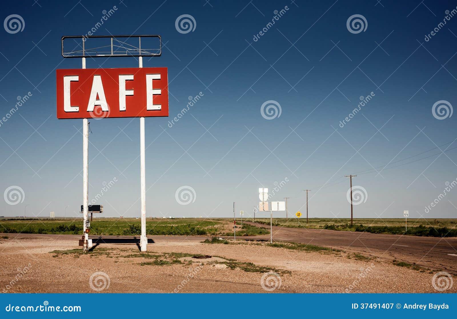 Koffieteken langs historisch Route 66