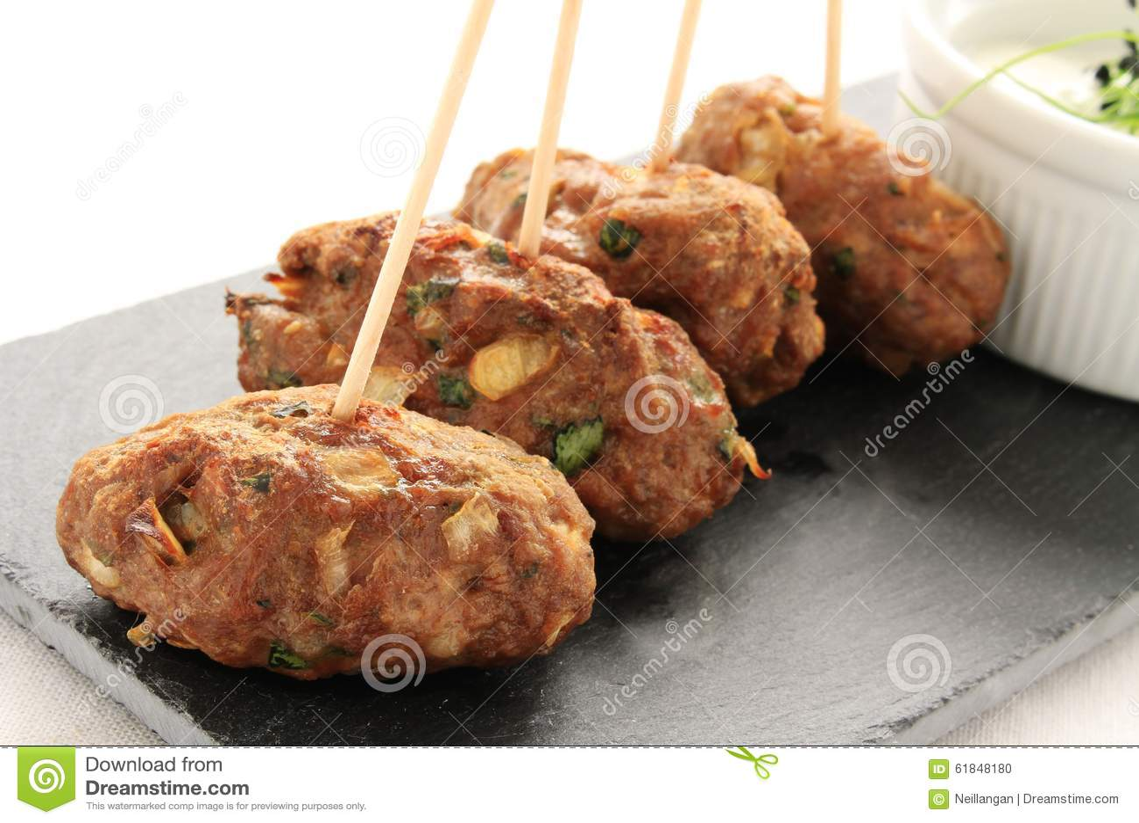 Kofta Kofte shish kebabs με την εμβύθιση