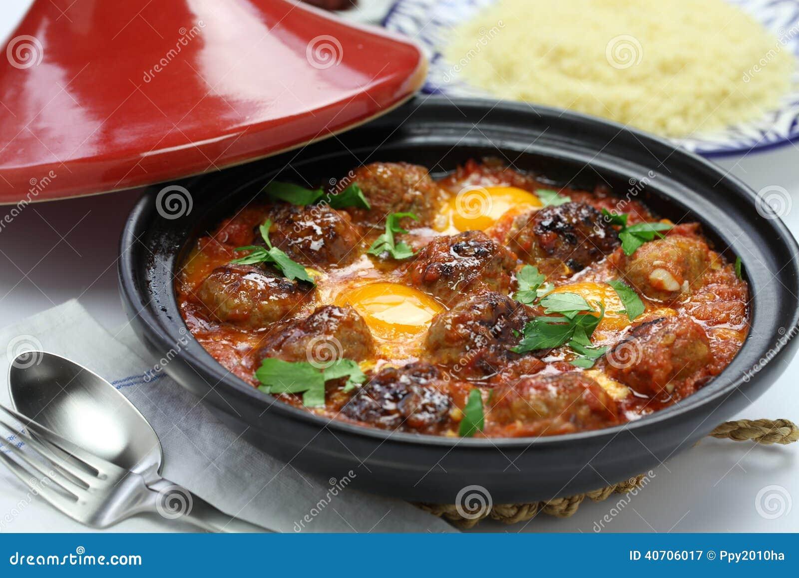 Kofta Tajine, Kefta Tagine, Moroccan Cuisine Stock Photo - Image ...