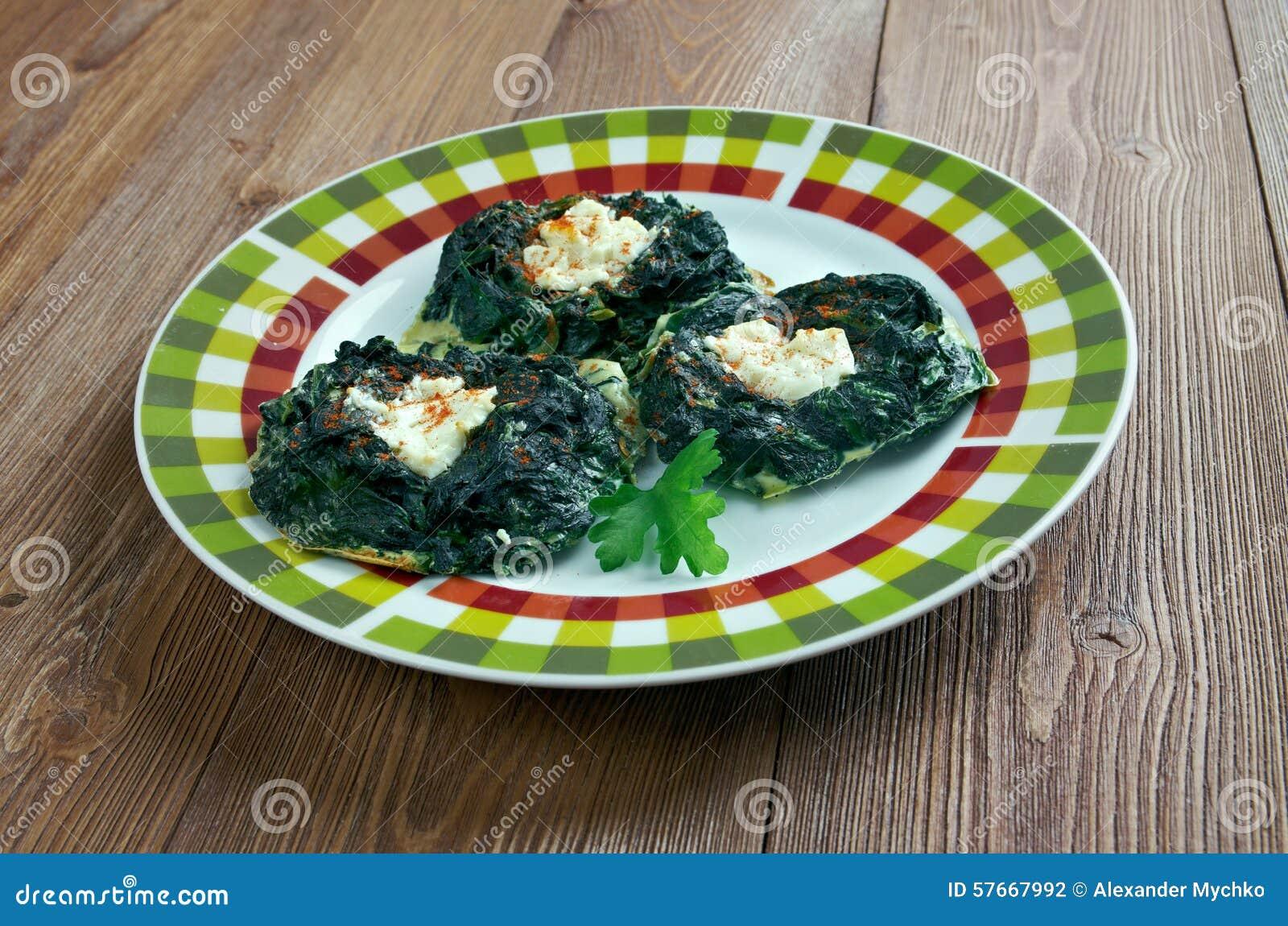 Kofte z szpinaka i feta serem