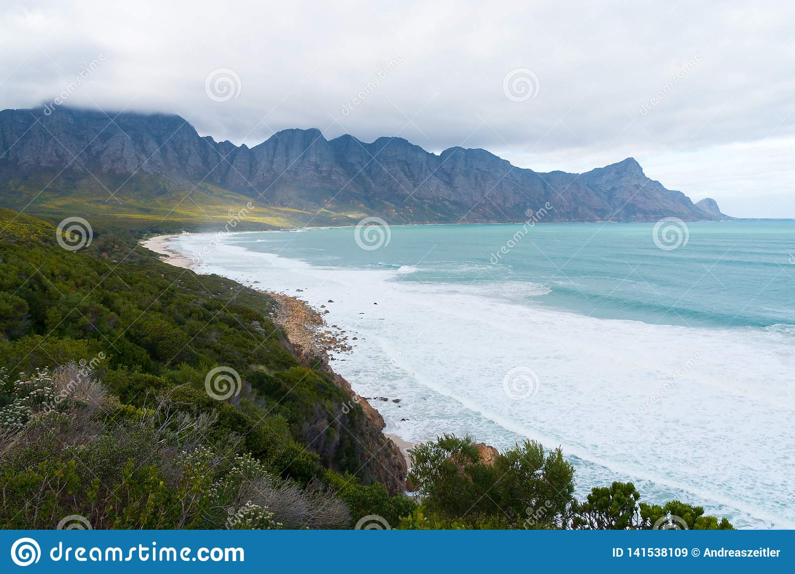 Kogel Bay Beach, located along Route 44 in the eastern part of False Bay near Cape Town, South Africa