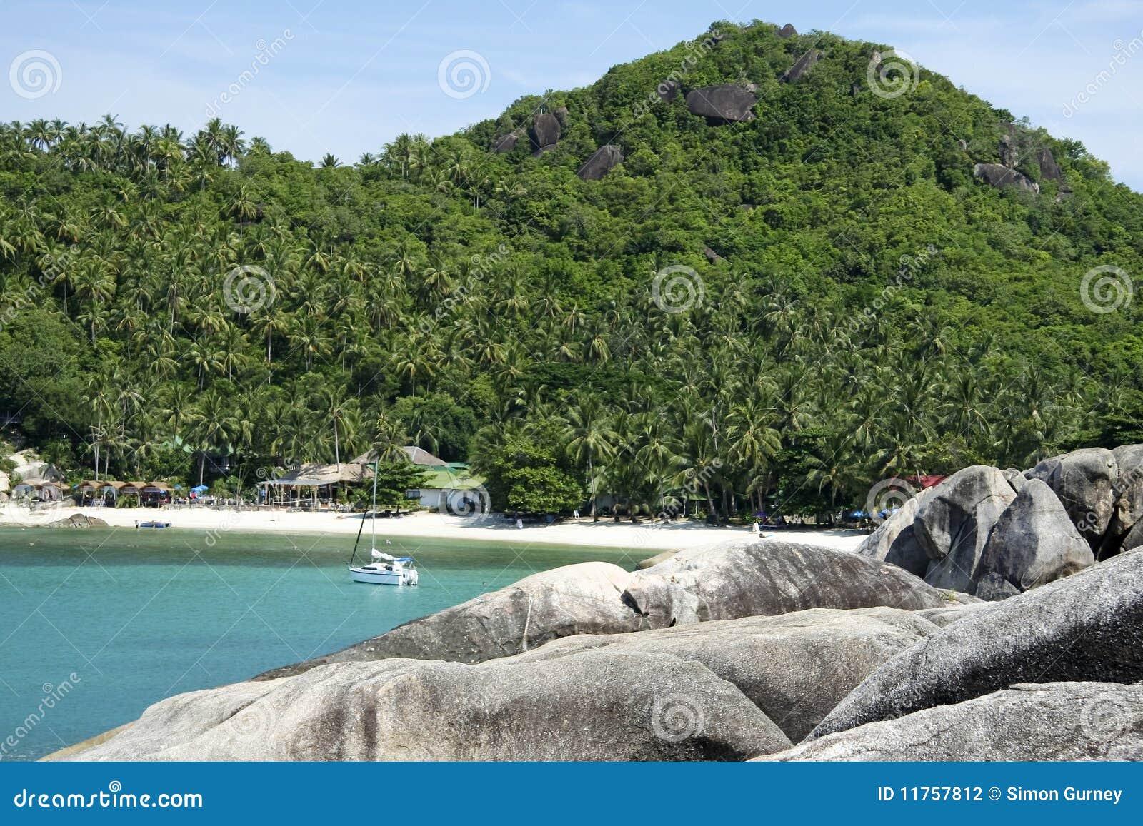 Koh samui beach yacht thailand
