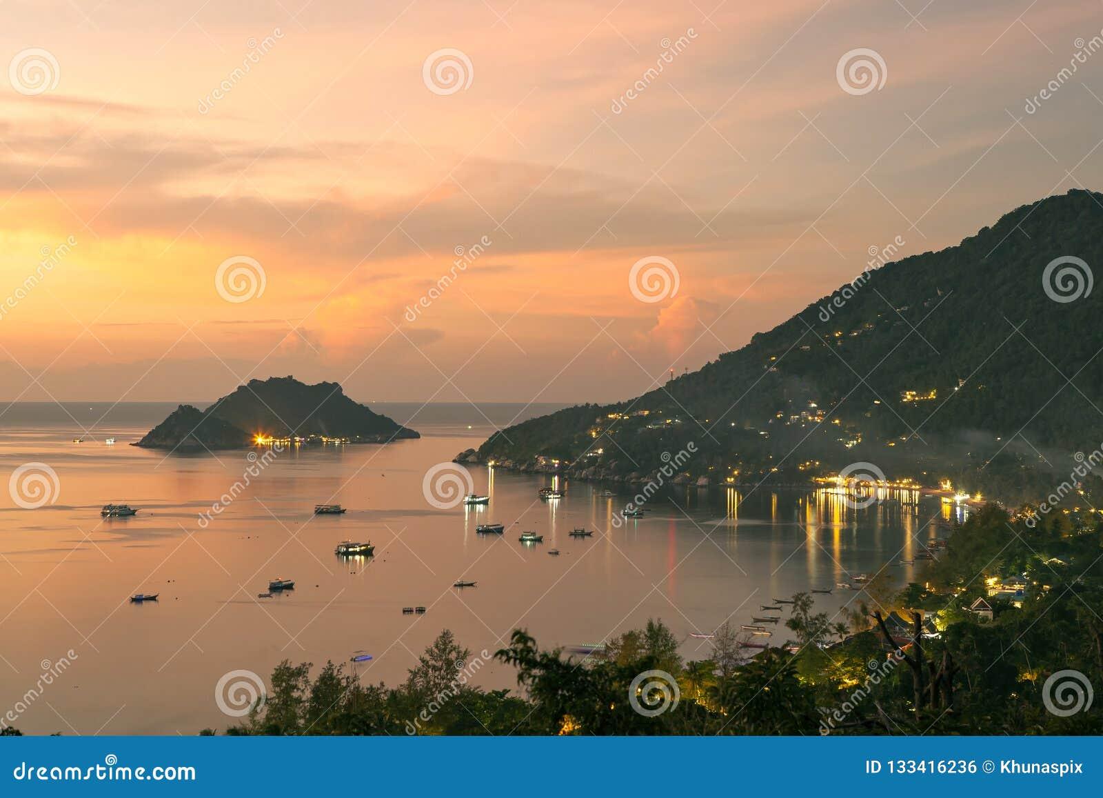 Koh Tao wyspa Juan i nang ukrywamy surathani jeden najwięcej popula