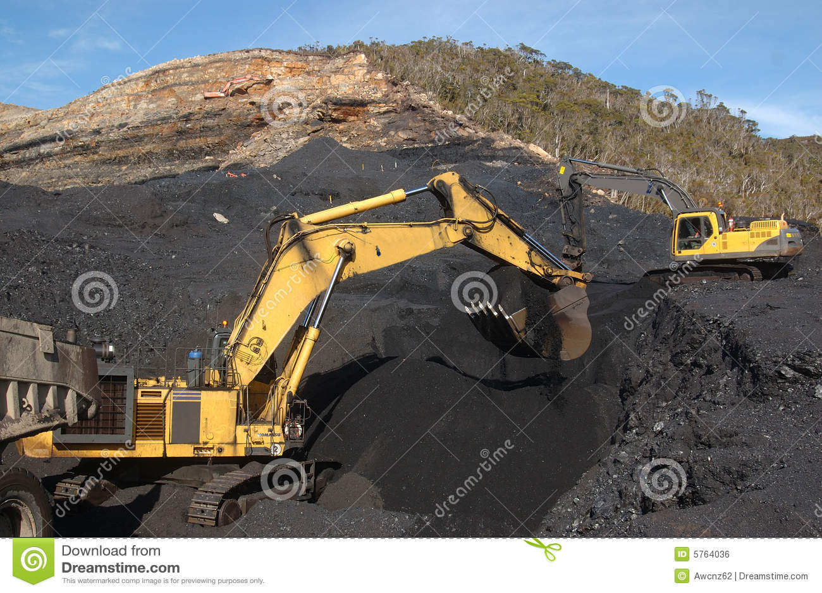 Kohle-Ausgrabung