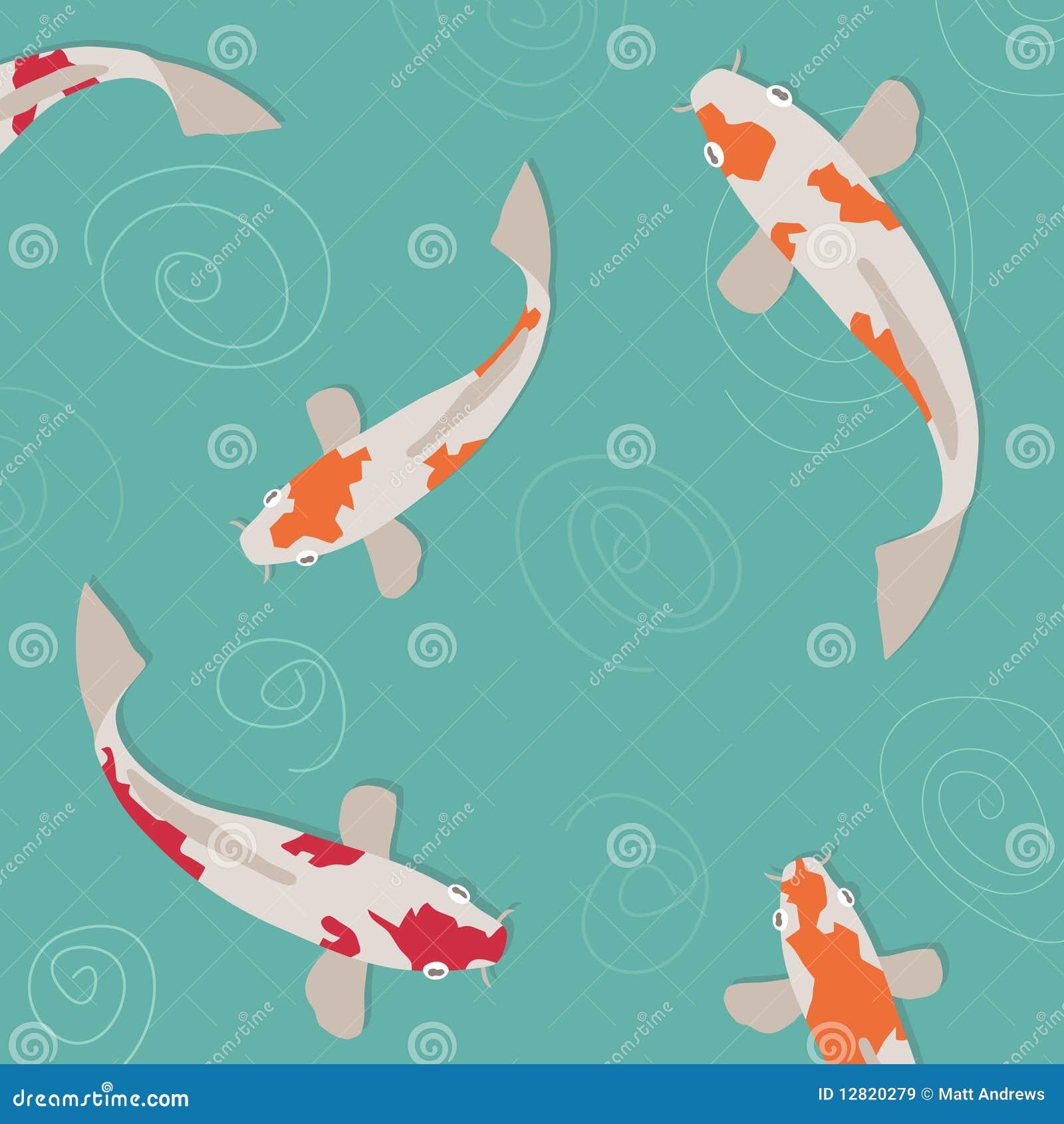 Koi carp stock vector illustration of illustration for Fraie carpe koi