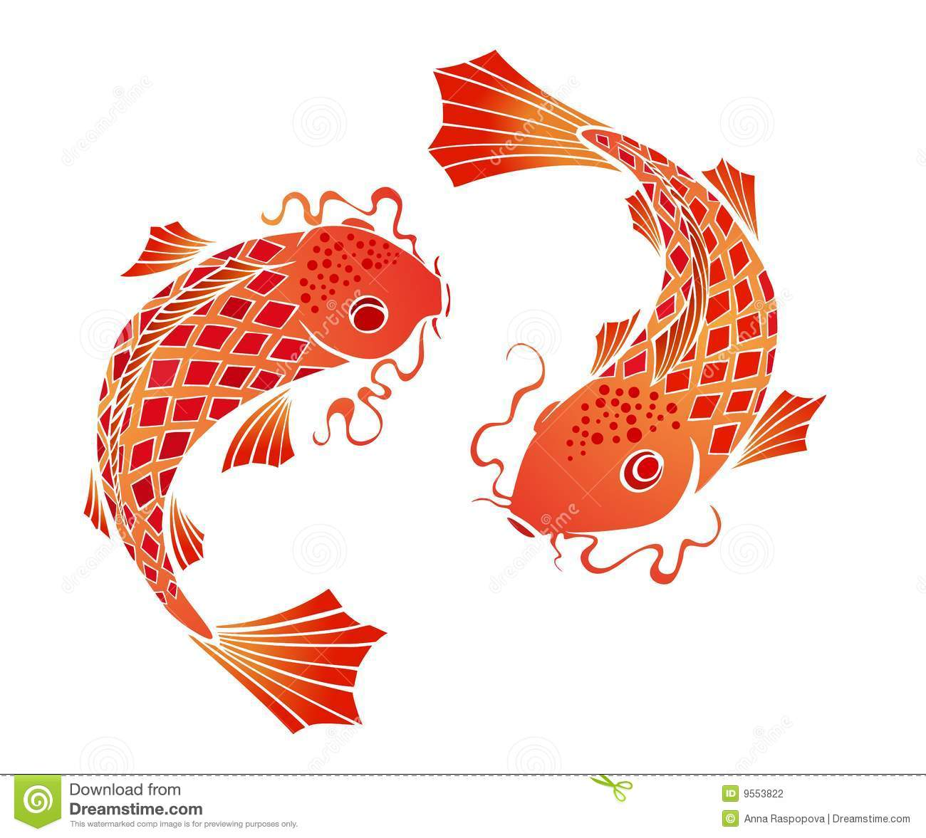 Image gallery koi clip art for Koi fish vector