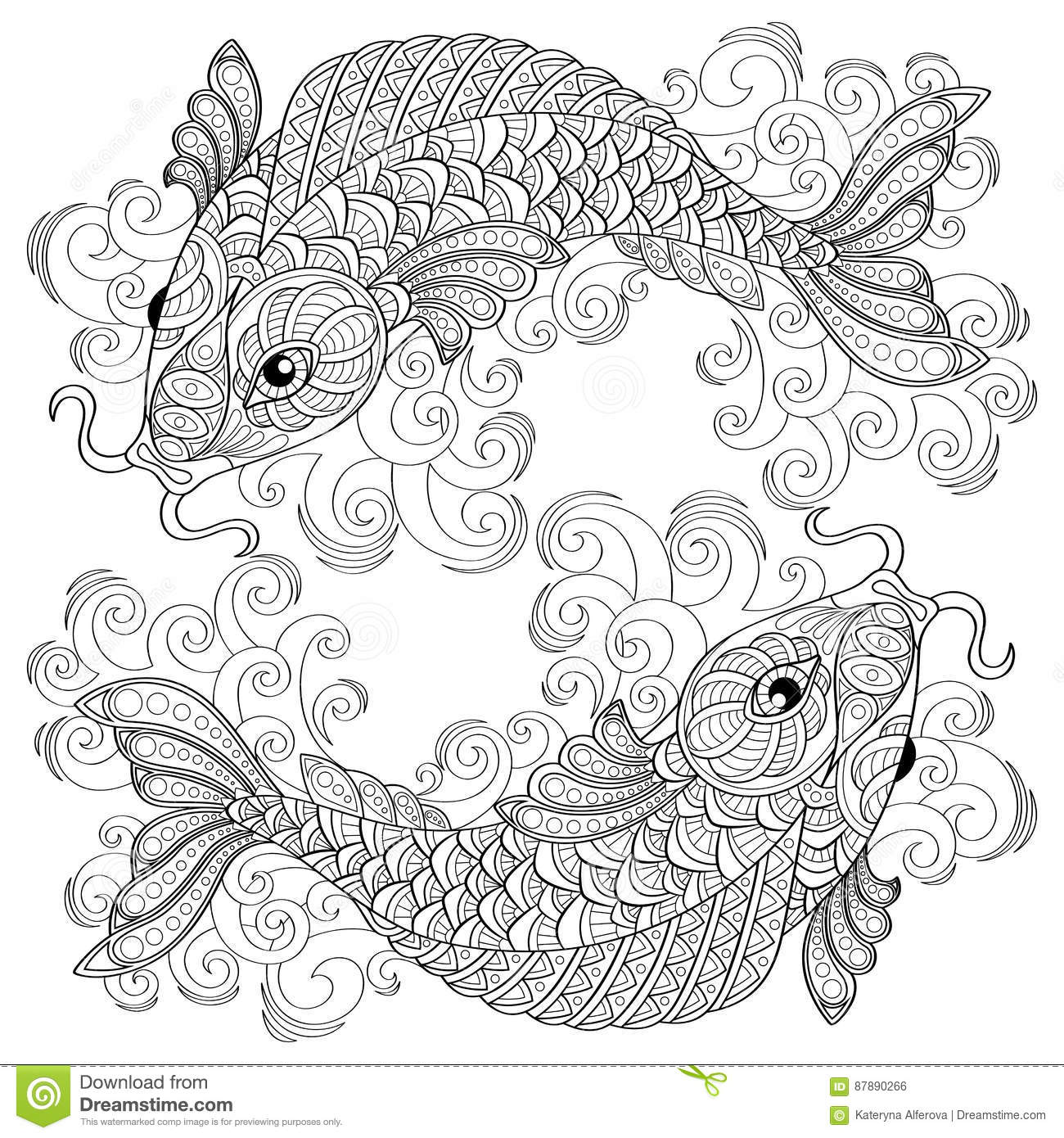 Adult coloring pages black and white ~ Antistress Cartoons, Illustrations & Vector Stock Images ...