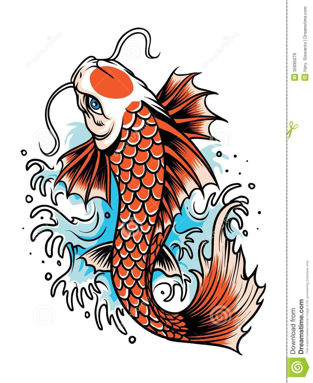 Tattoos and body art koi and fish on pinterest for Koi fish vector
