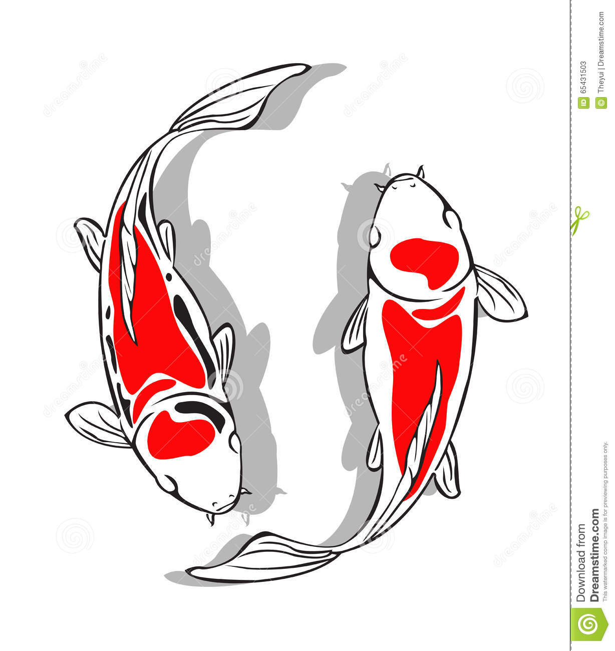 Koi fish vector design stock vector illustration of swim for Koi fish vector