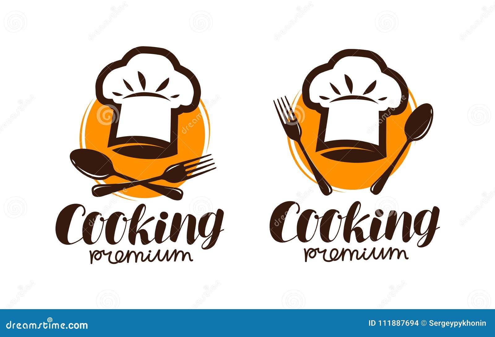 Kokend embleem of etiket Embleem voor restaurant of koffiemenuontwerp Van letters voorziende Vectorillustratie