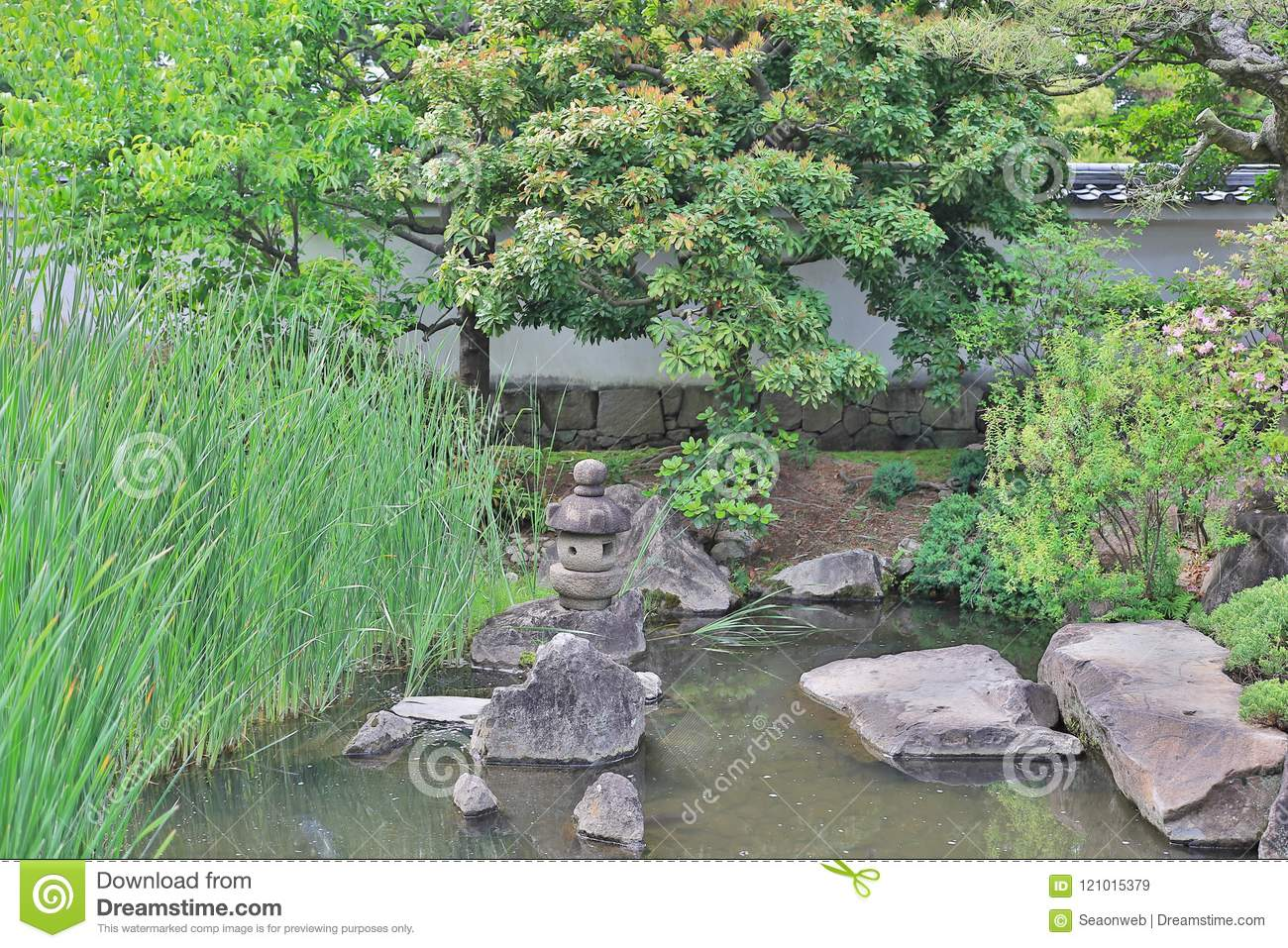 Download Step Stones Path Over A Pond In Koko En Garden Stock Image   Image  Of