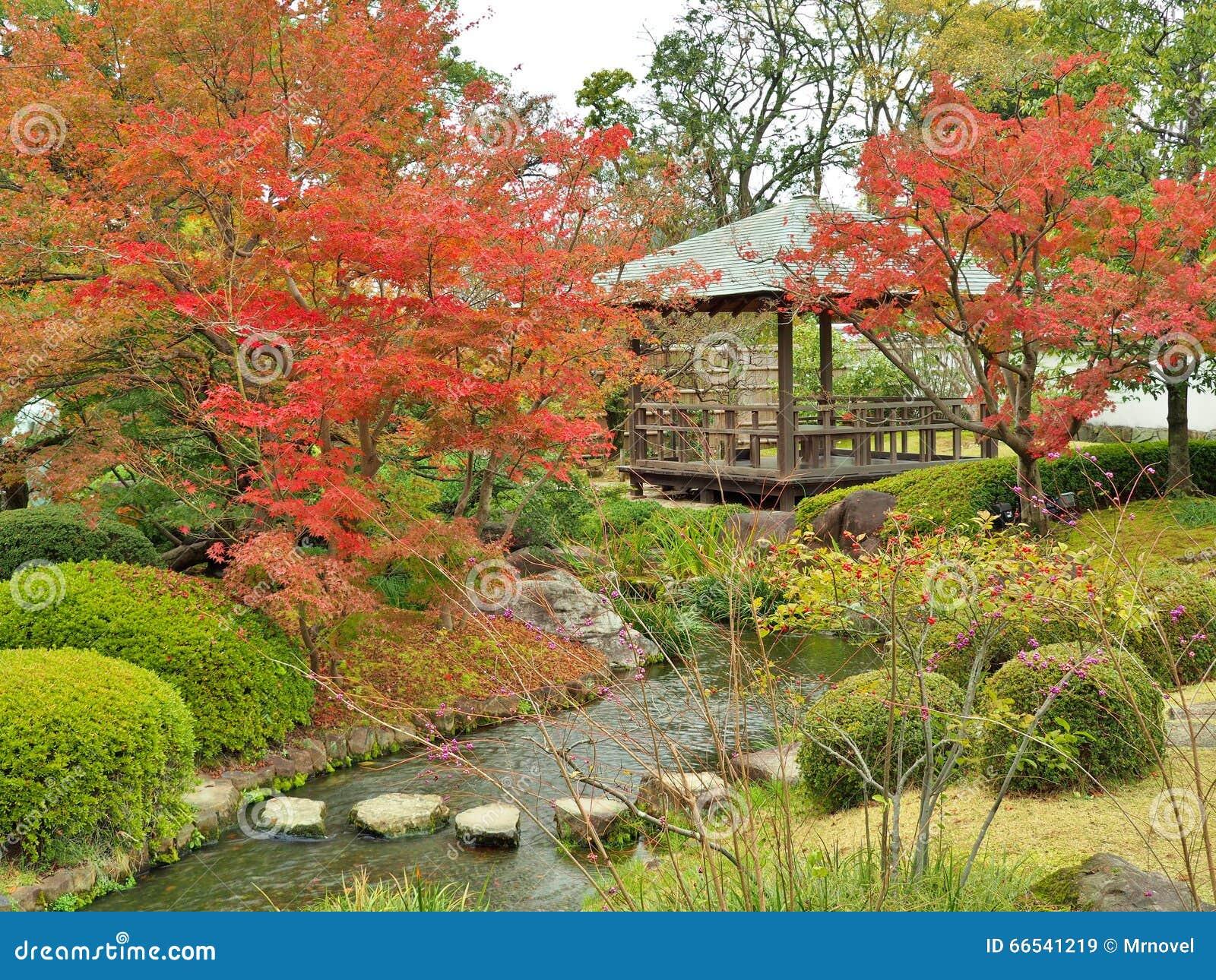 Koko-Engelse Tuin in de herfst in Himeji, Hyogo-Prefectuur, Japan