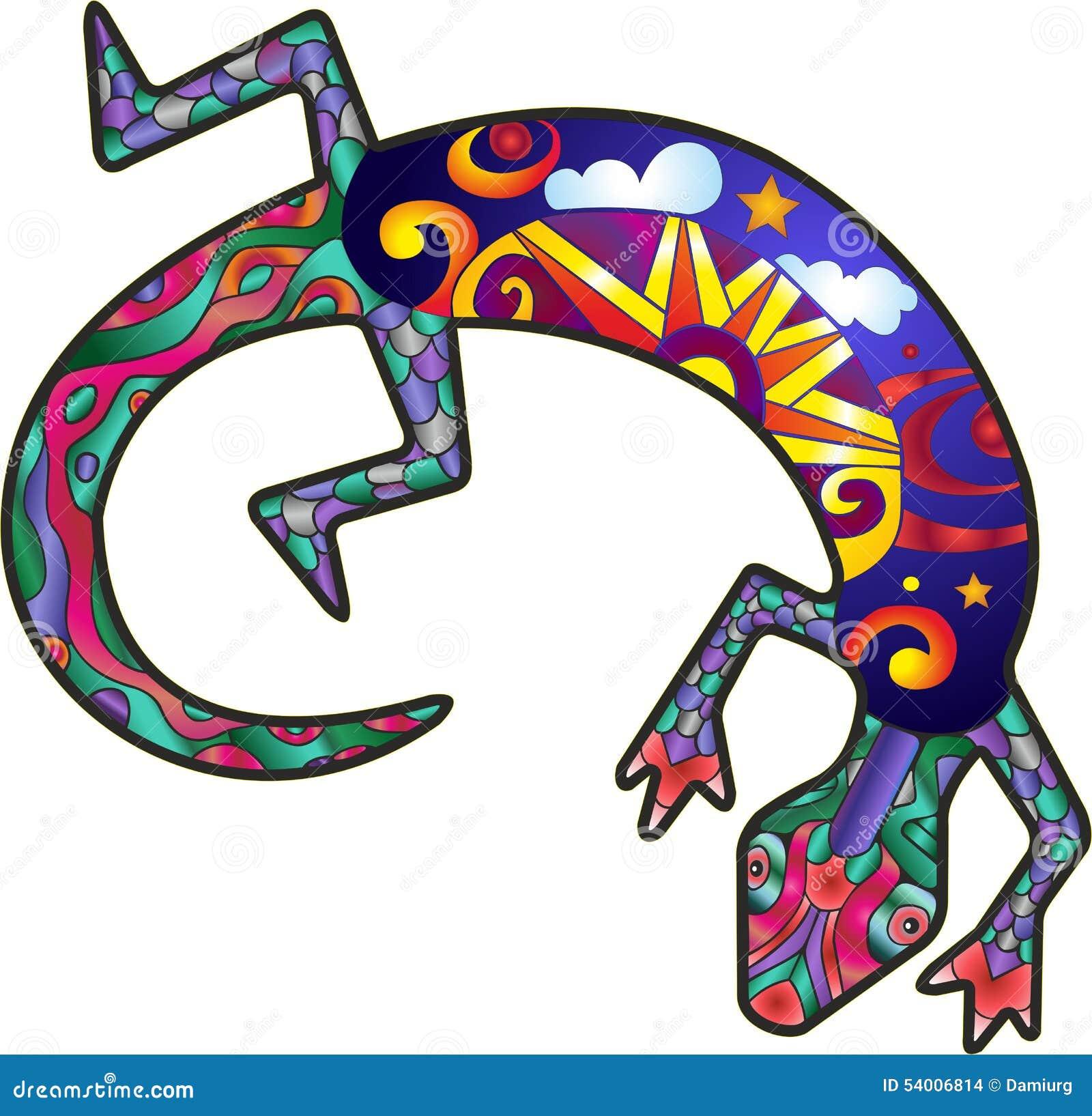 Kokopelli Lizard Stock Vector Image 54006814