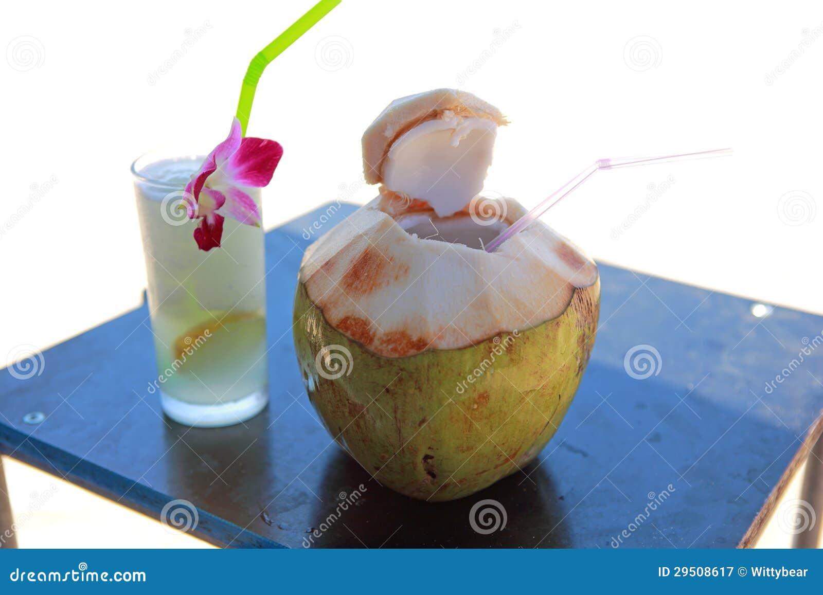 Kokosnoot en citroensap