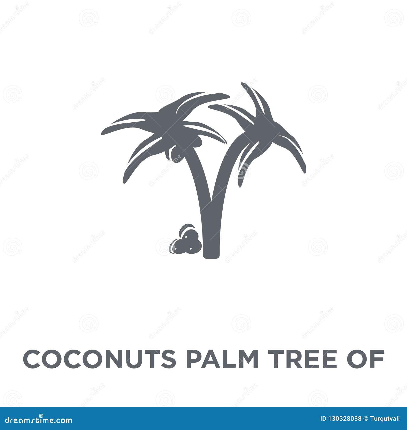 Kokosnotenpalm van het pictogram van Brazilië van Braziliaanse pictogrammencollectio