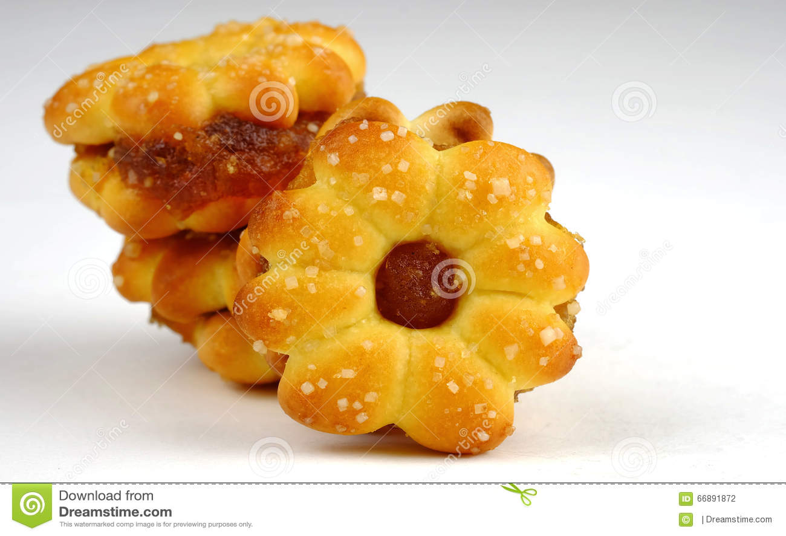 Kokosowy ciastko Z Ananasowym dżemem
