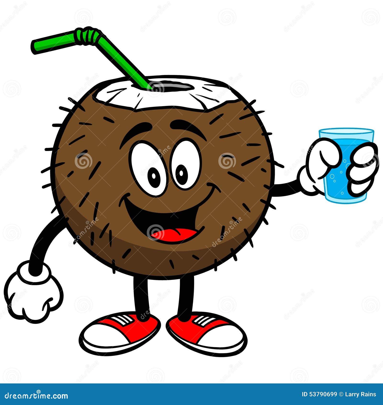 Kokosowy napój z filiżanką woda
