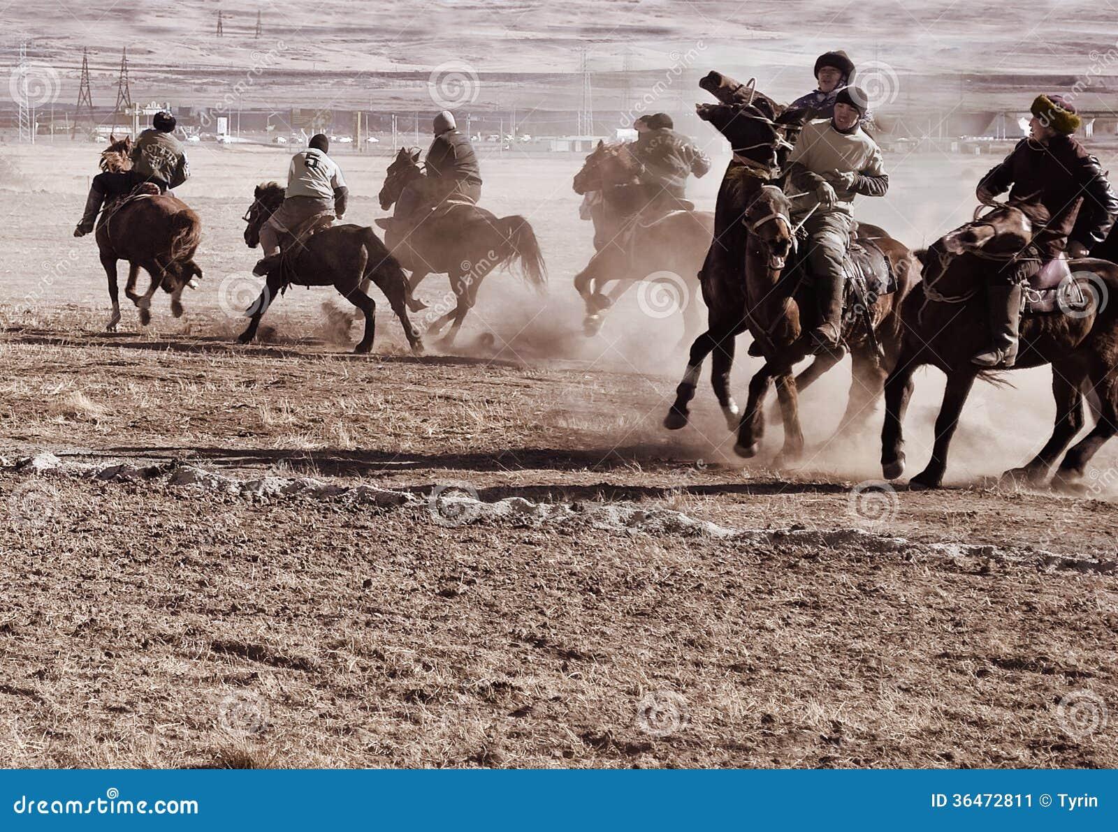 Kokpar - horse game  editorial photo  Image of kokpar - 36472811