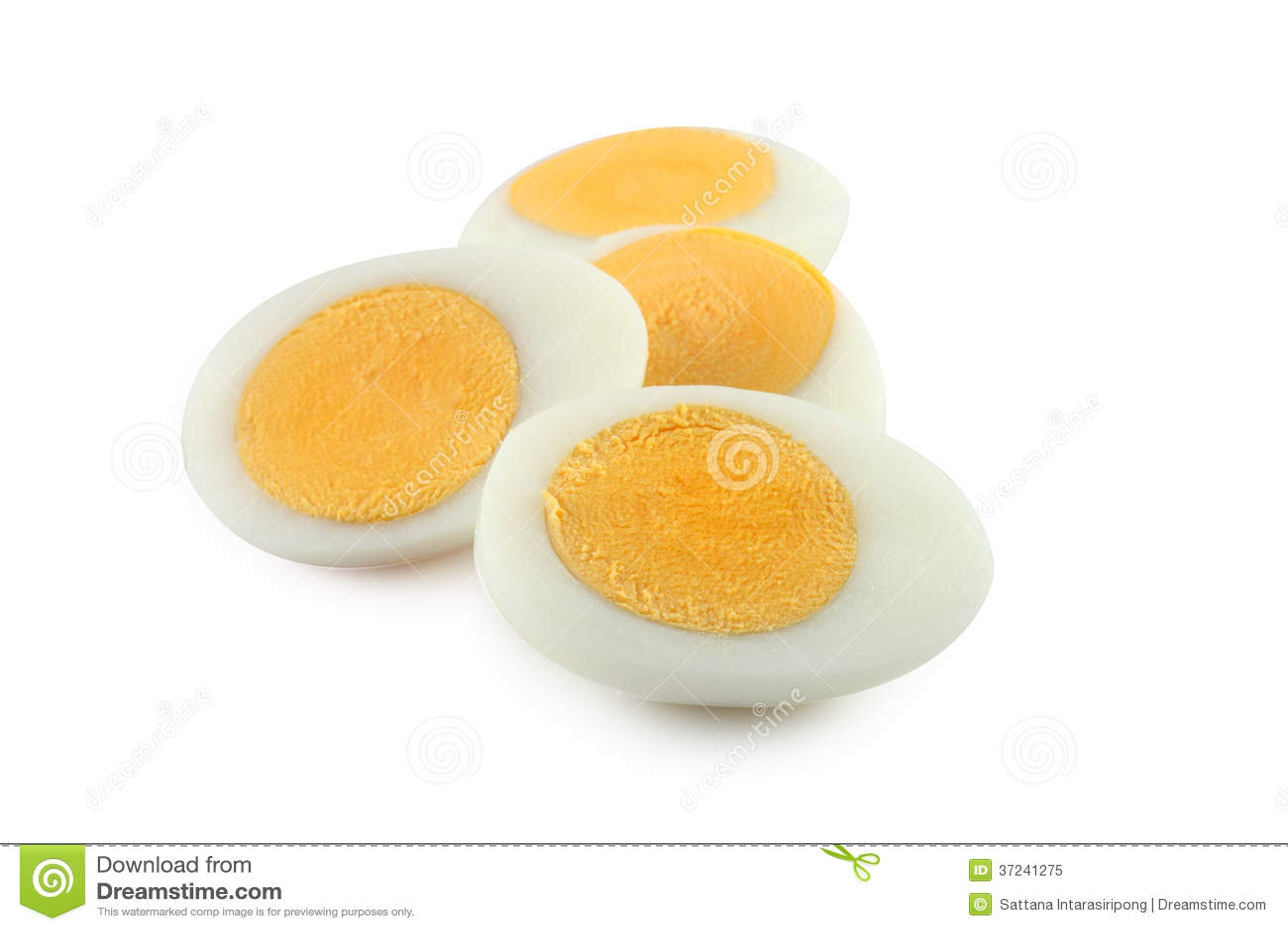 Kokt ägg protein
