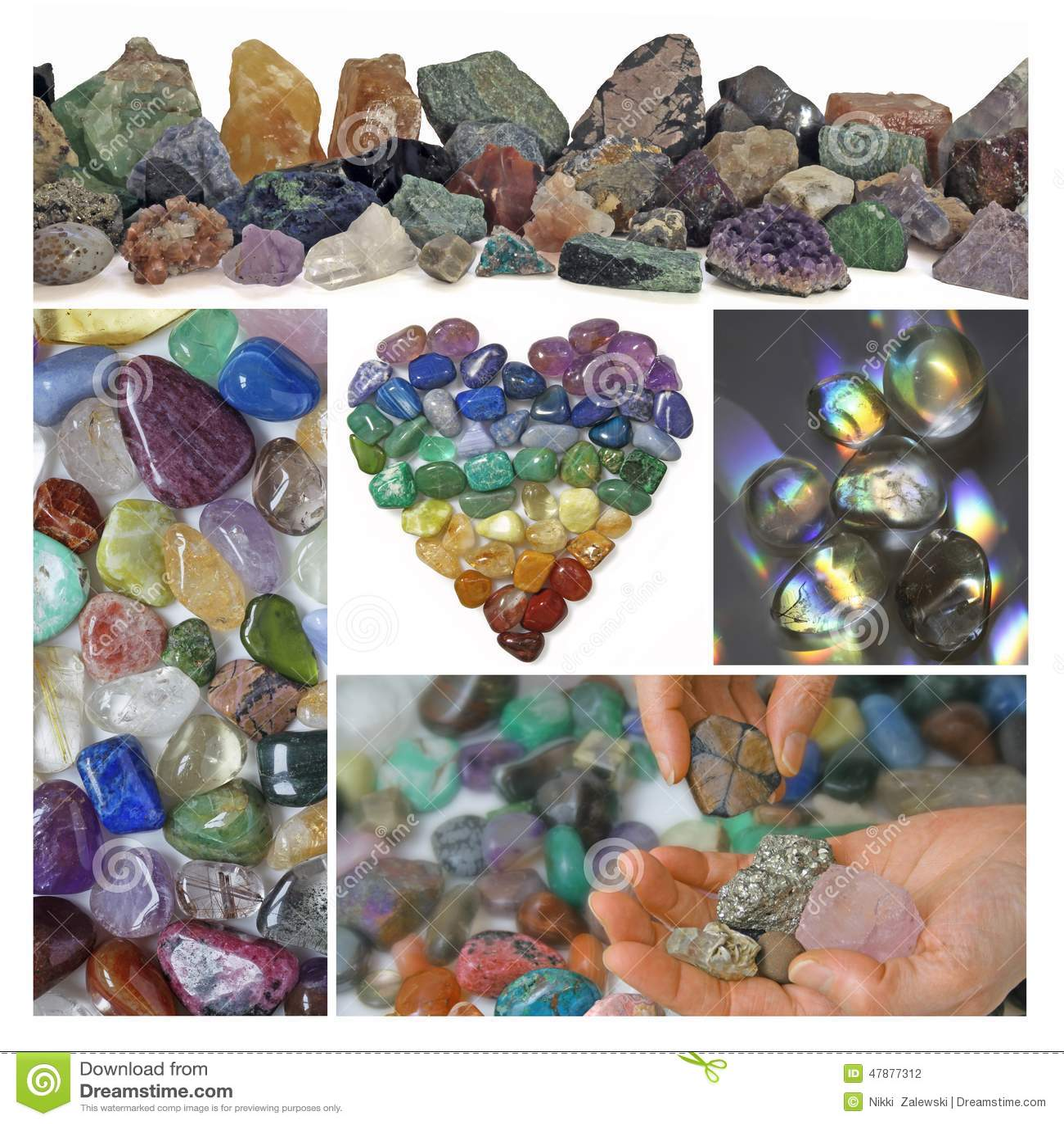Kolaż Leczniczy kryształy