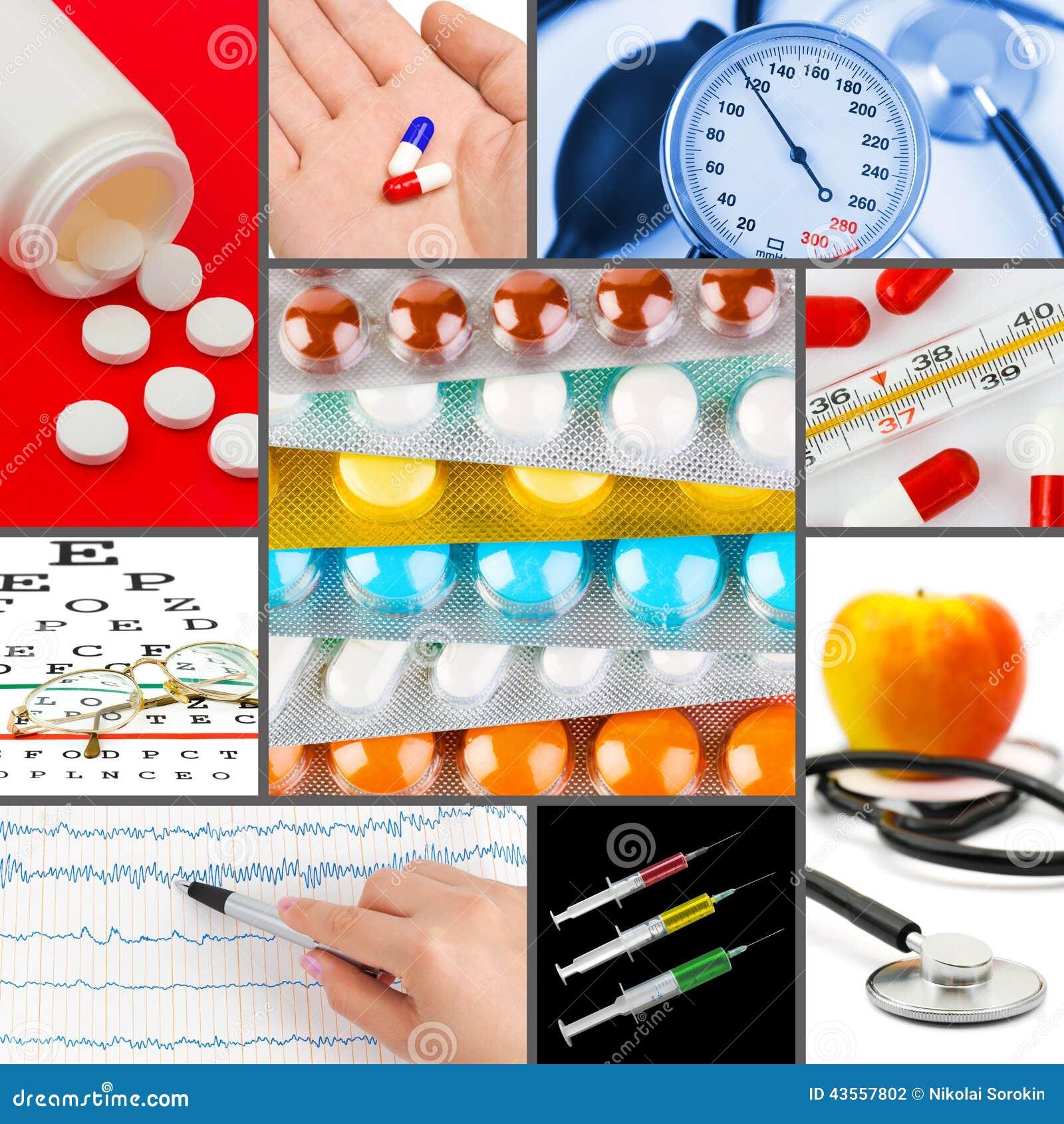 Kolaż medyczni wizerunki