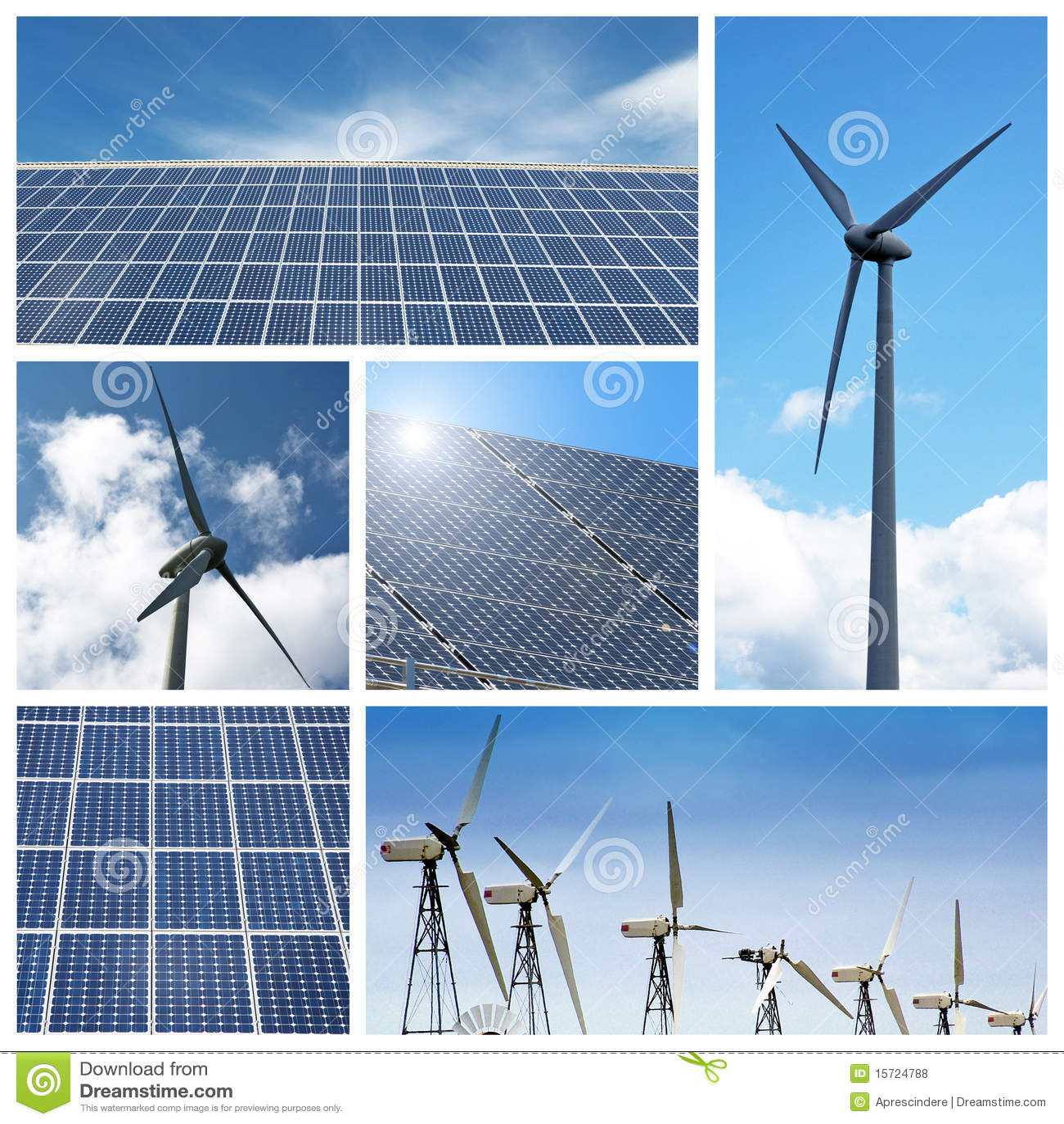 Kolażu energii zieleń