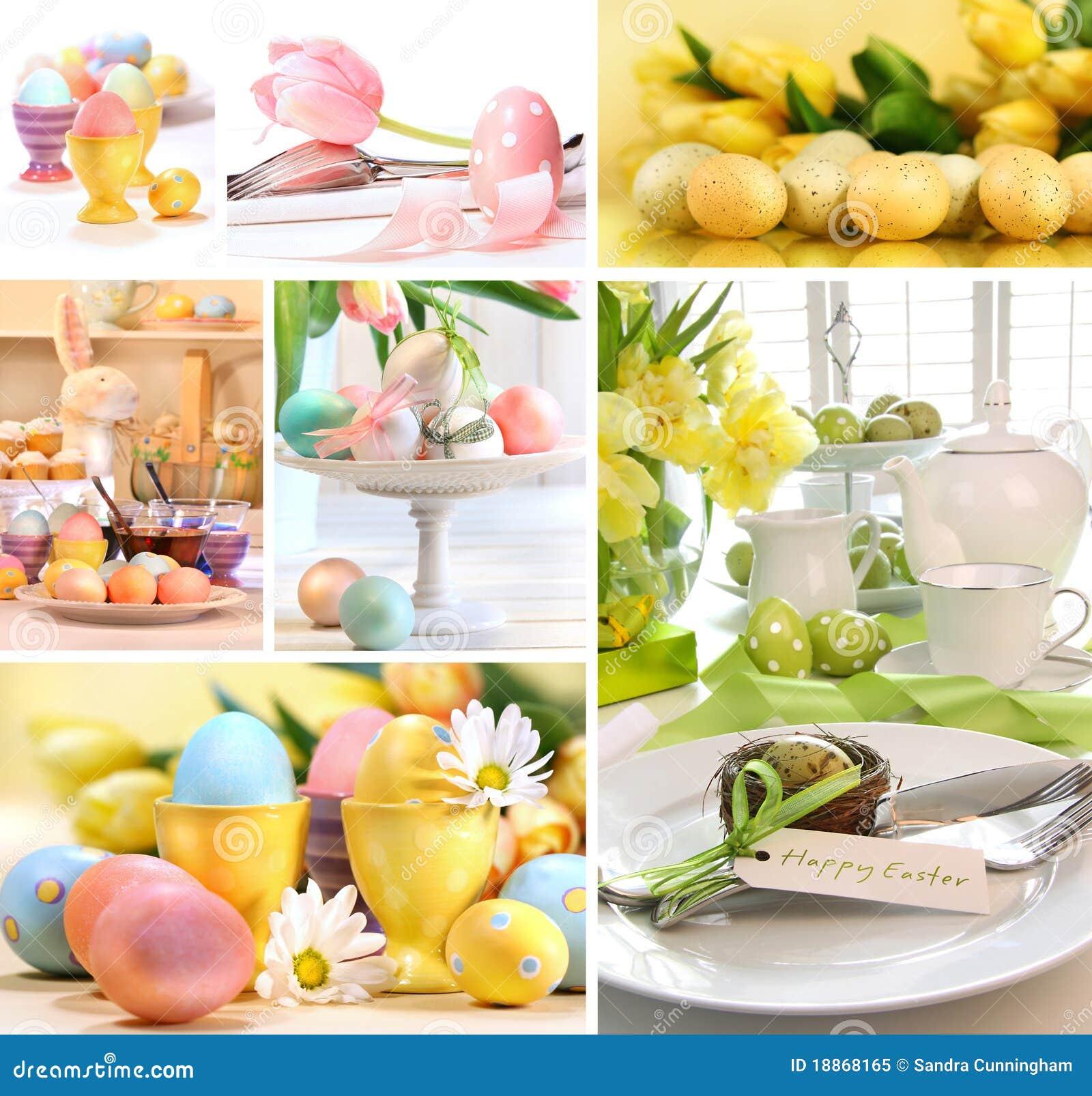Kolażu kolorowi Easter wizerunki
