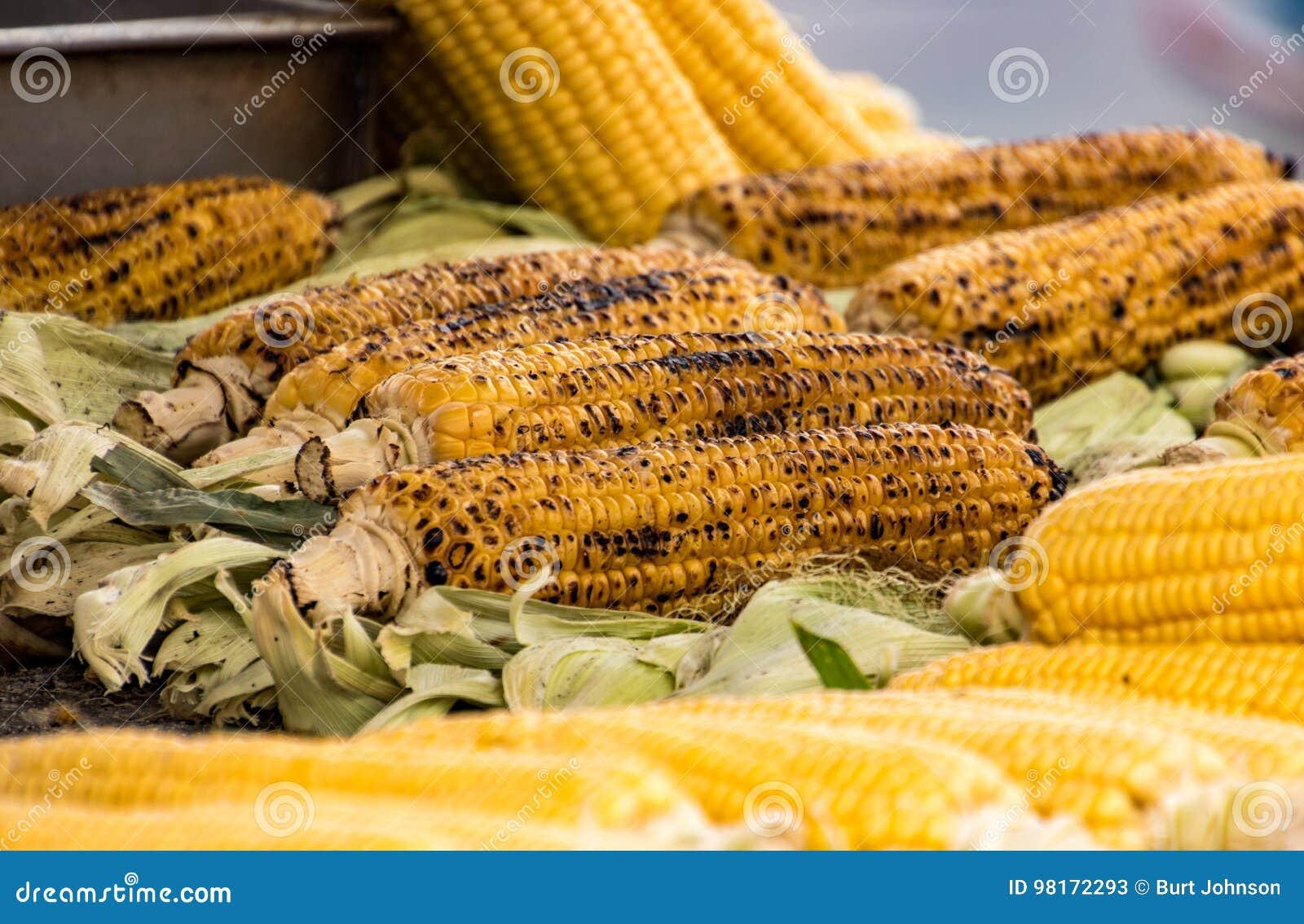 Kolby kukurydzy palone