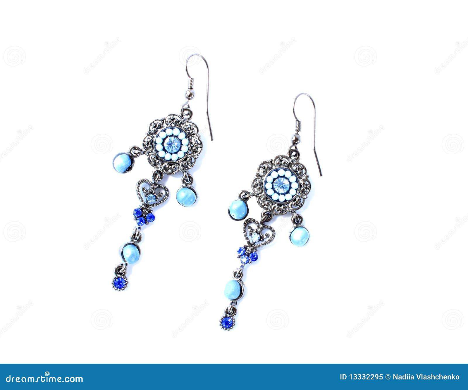 Kolczyków błękitny kamienie