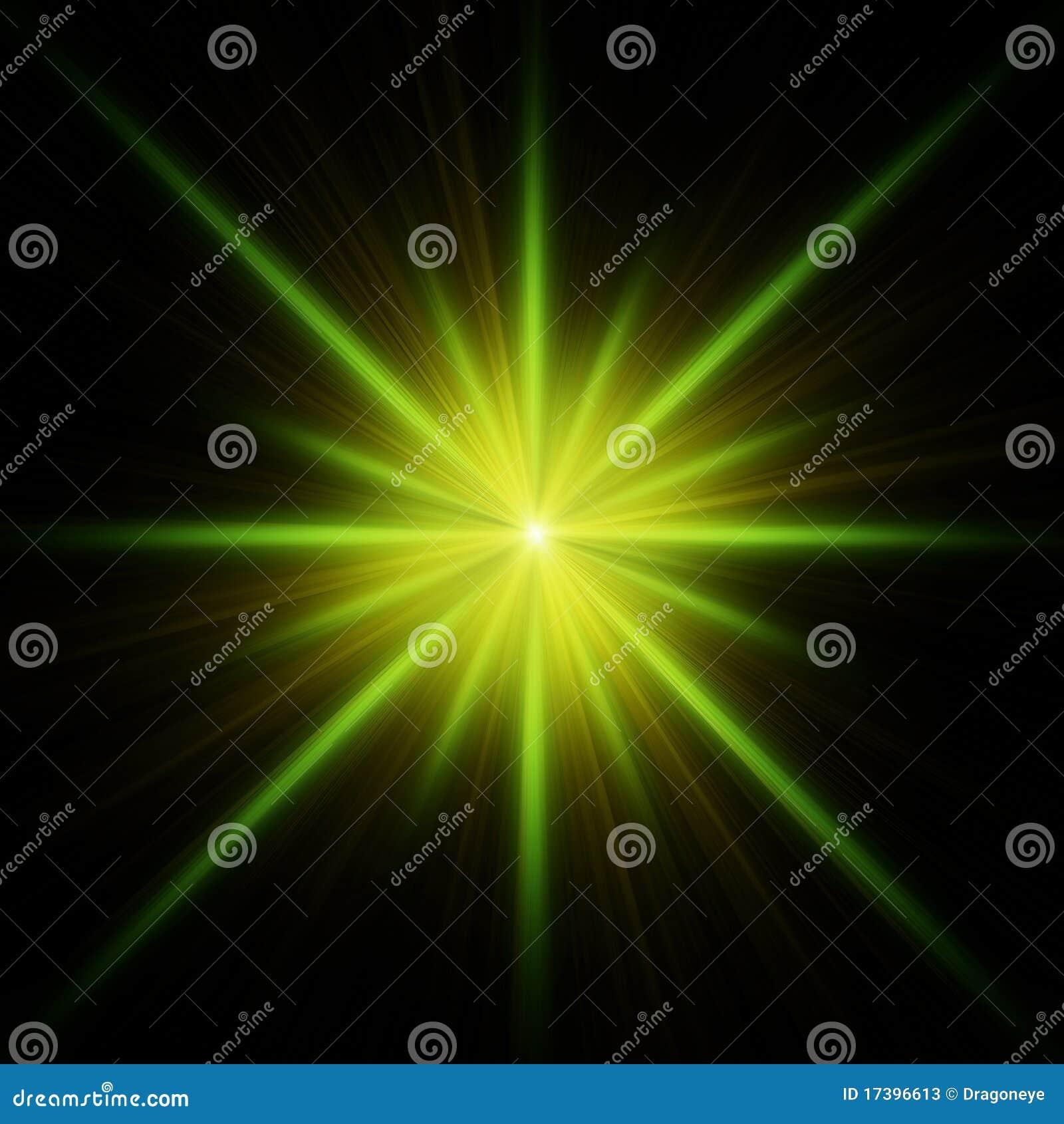 Kolec błyskowa zielona gwiazda