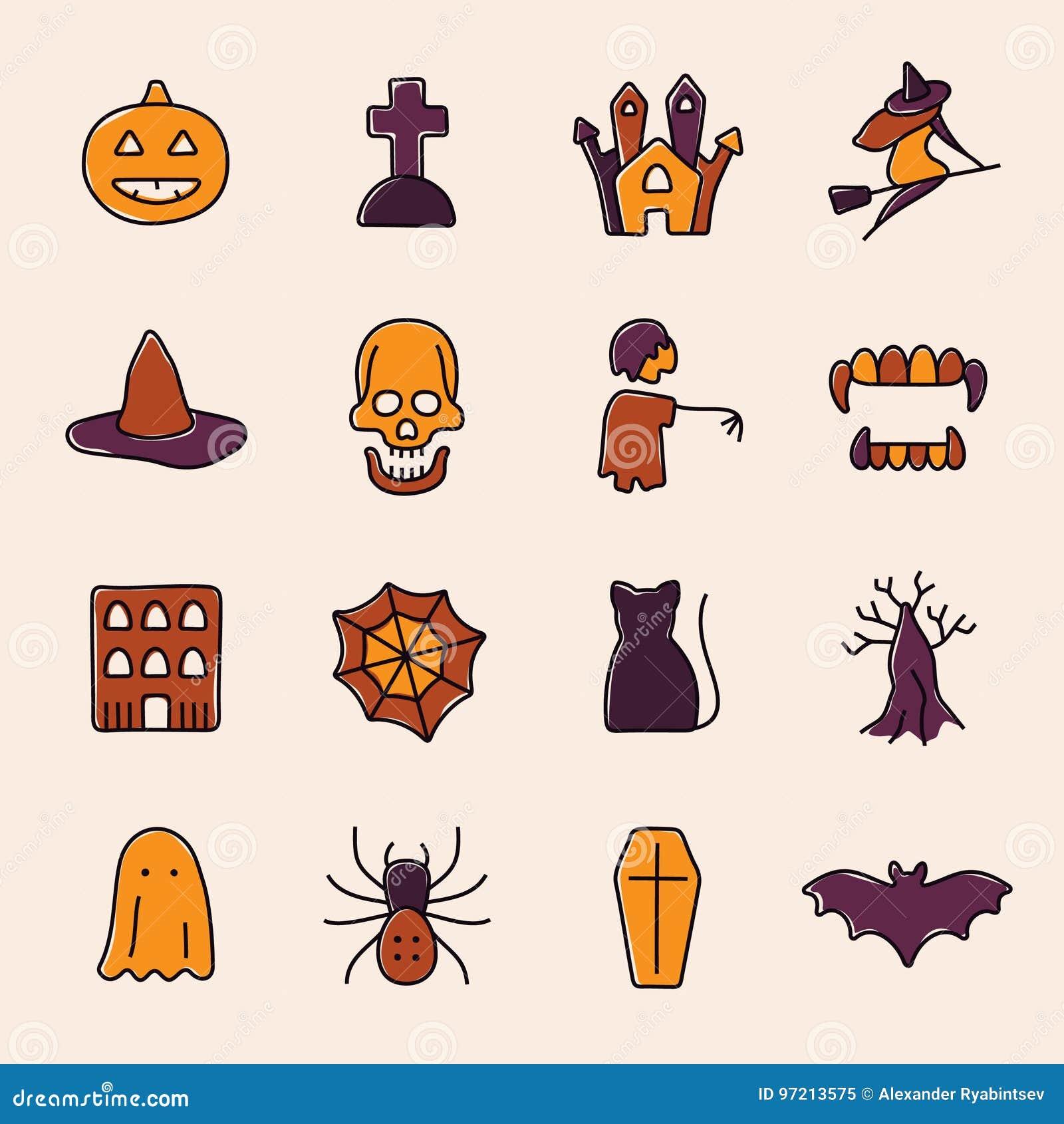Kolejna Halloween ikon dynia coś czarownice