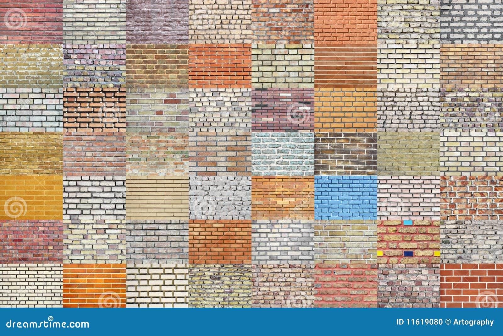 Kolekci ceglana ściana
