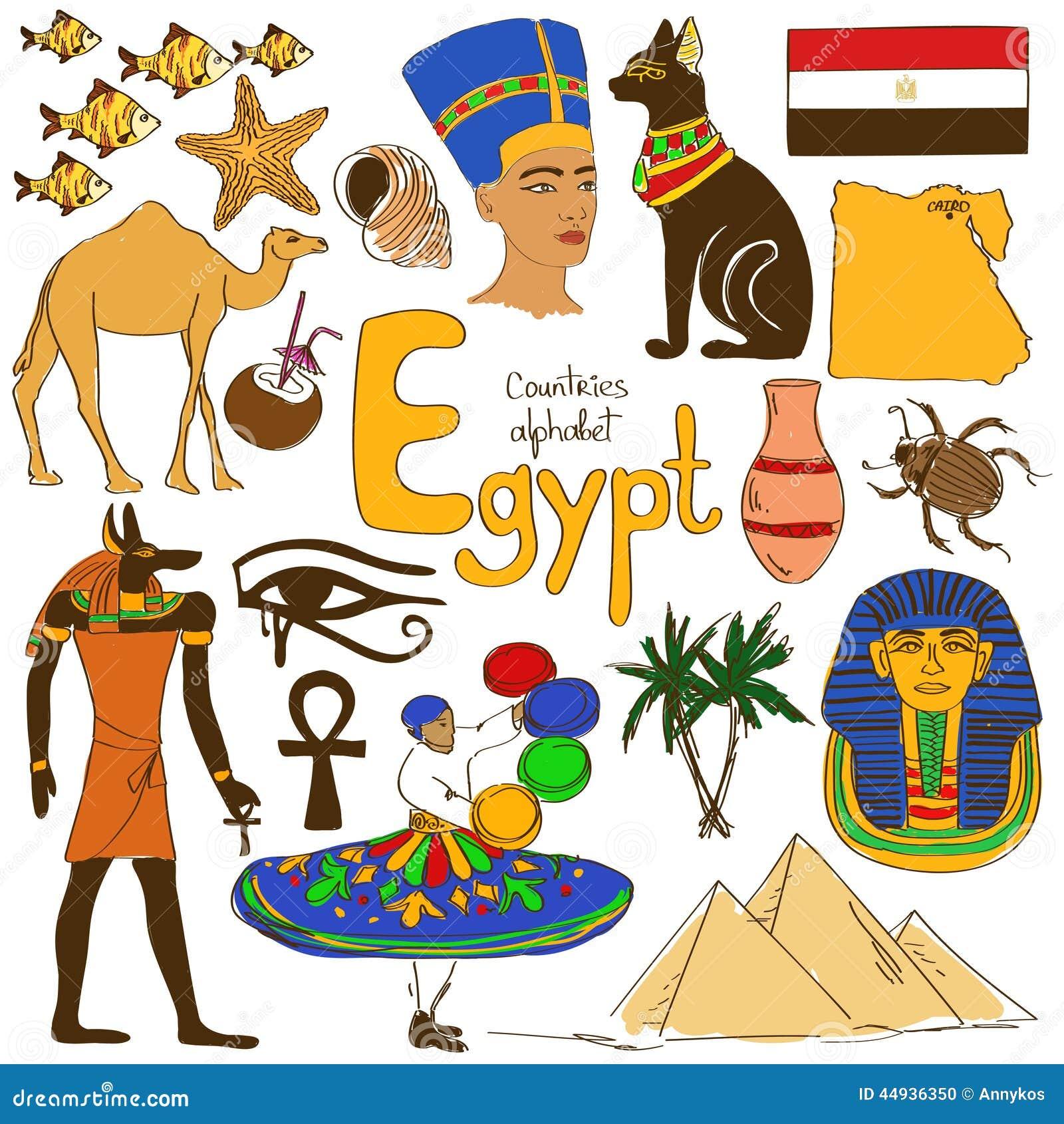 Kolekcja Egipt ikony