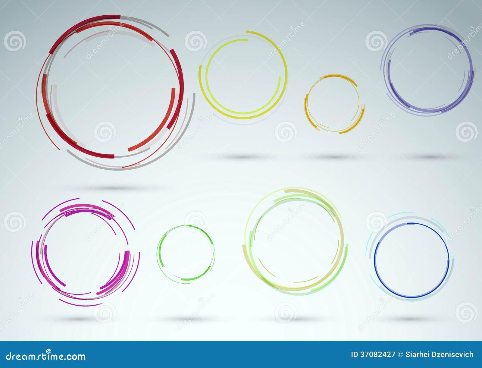 Download Kolekcja Pierścionki Jako Sieć Projekta Elementy Ilustracja Wektor - Ilustracja złożonej z abstrakt, sztandar: 37082427