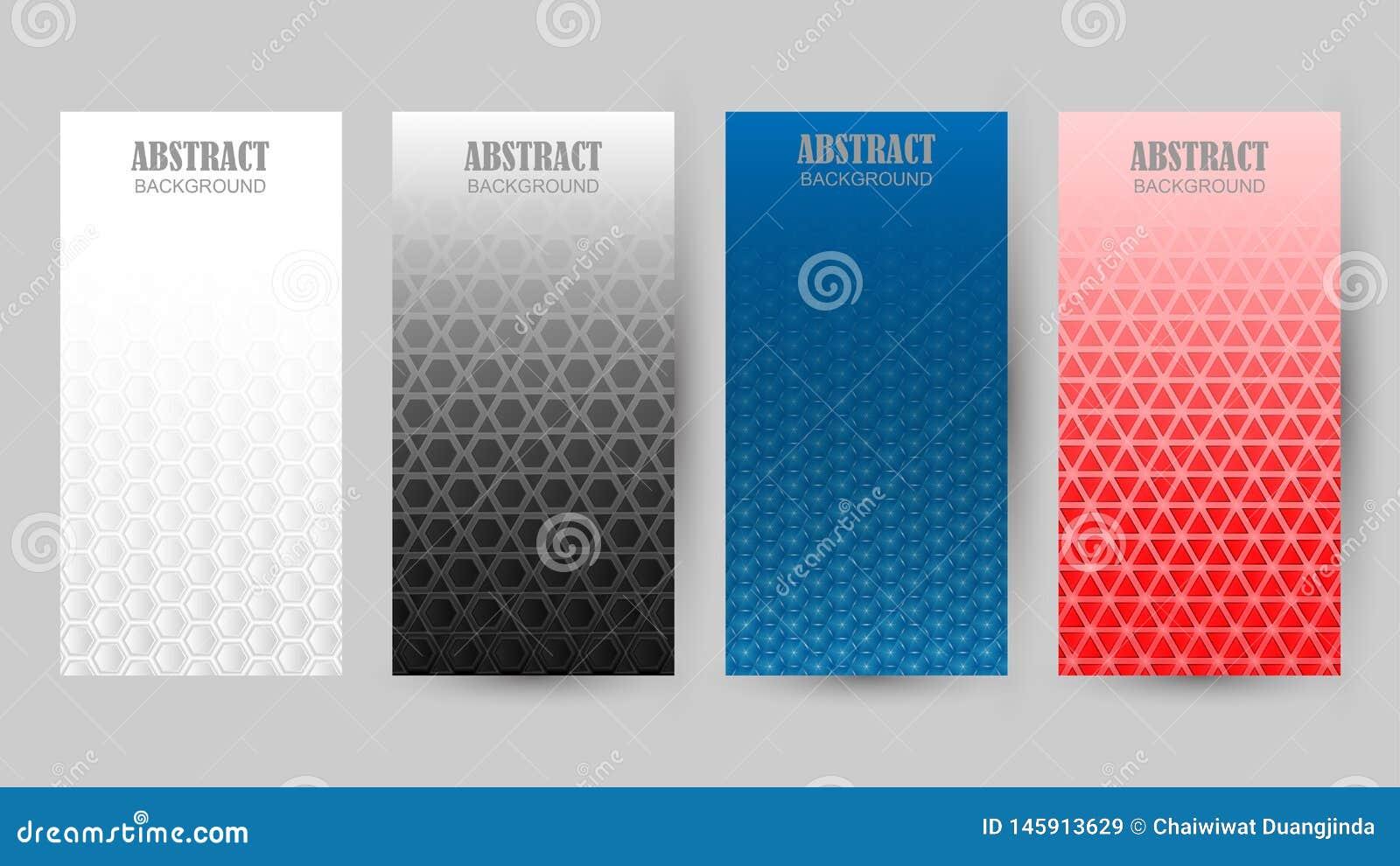 Kolekcja różni kolorów wzory w tle