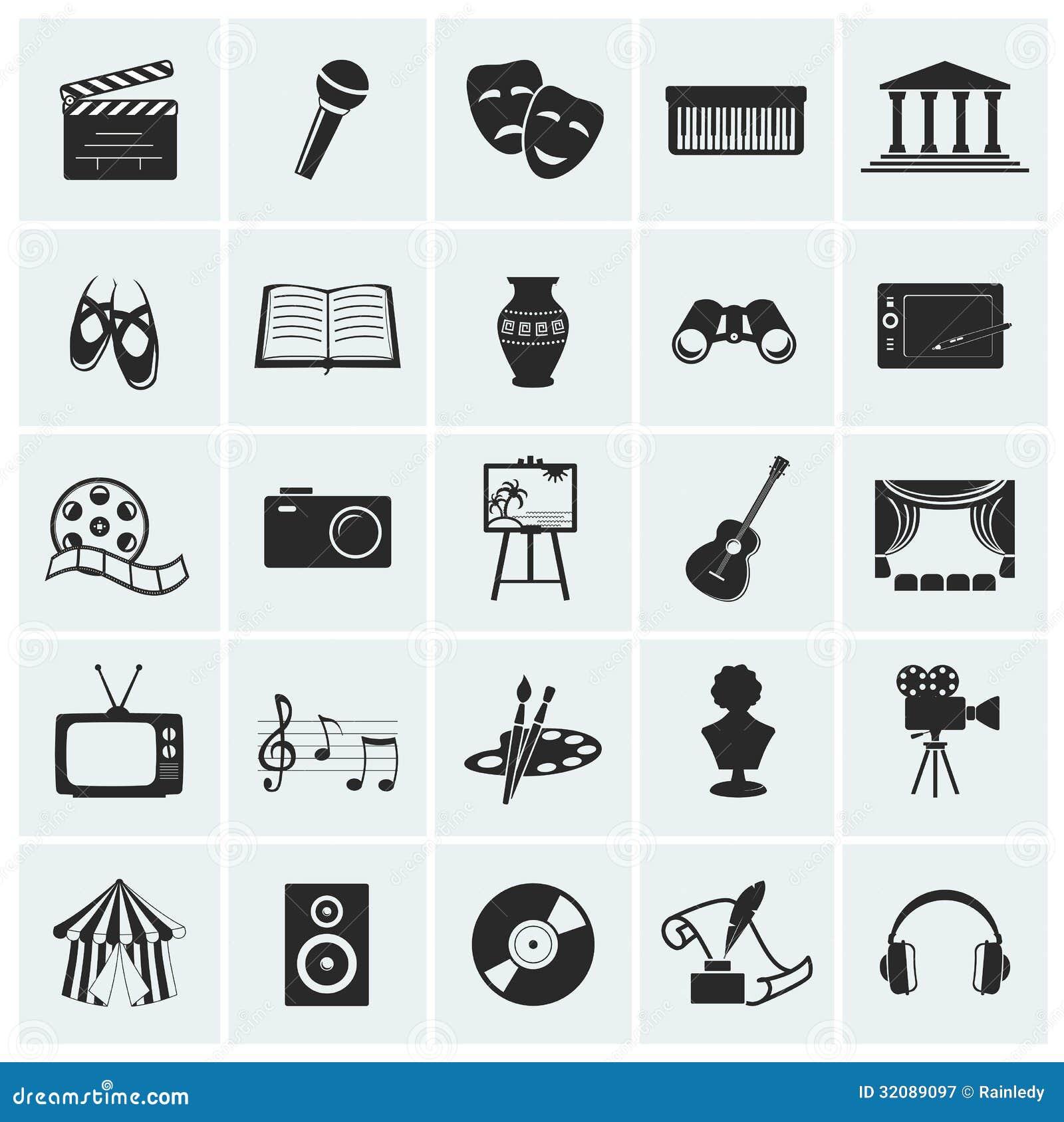 Kolekcja wektorowe sztuk ikony.