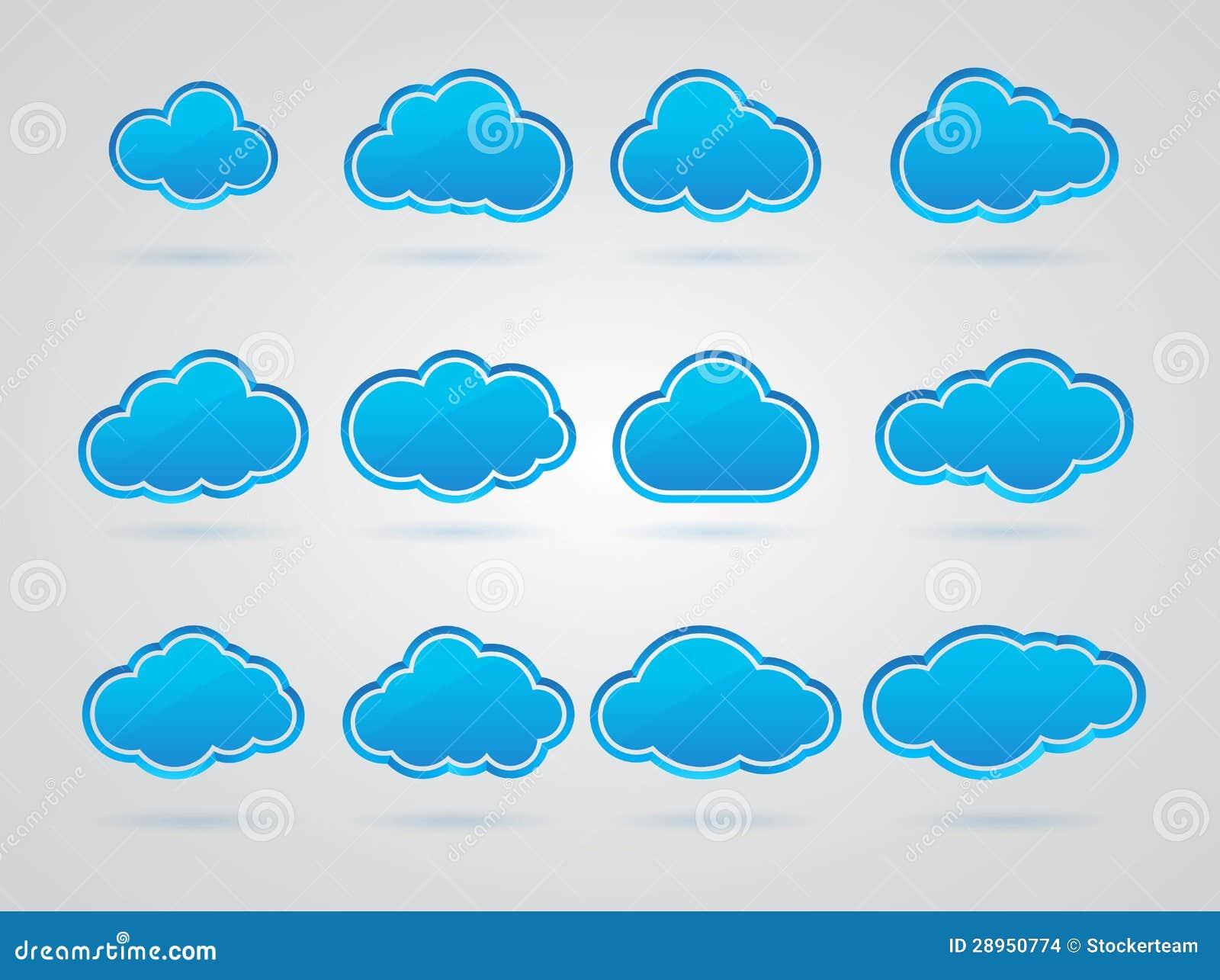 Kolekcja wiele Błękitne chmury
